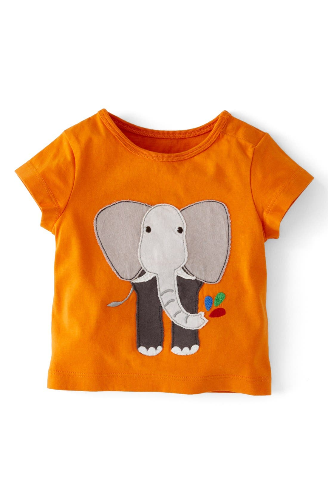 Main Image - Mini Boden Animal Appliqué T-Shirt (Baby Boys)