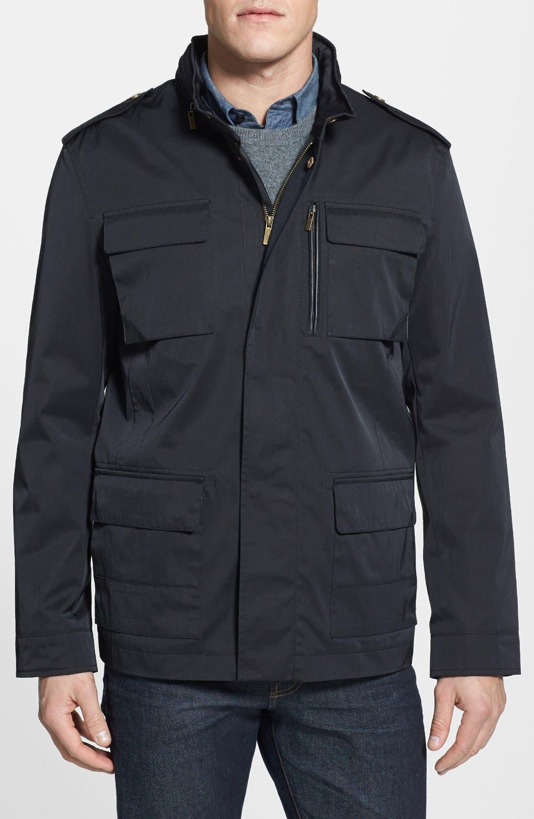 Alternate Image 1 Selected - Cole Haan Water Resistant Coated Field Jacket