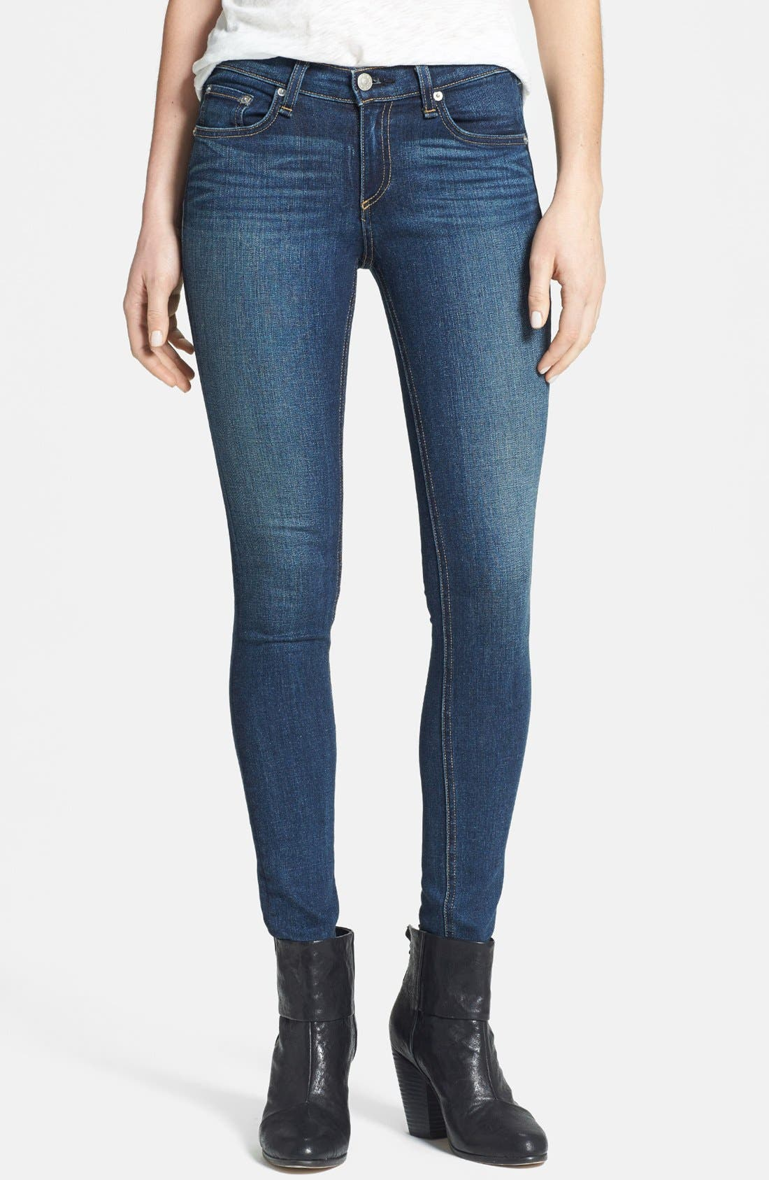 Alternate Image 1 Selected - rag & bone/JEAN Skinny Stretch Jeans (Preston)