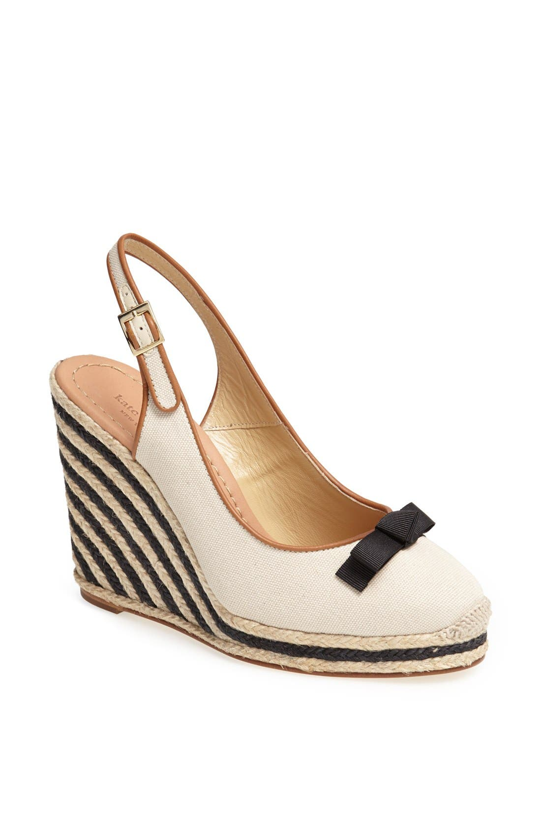 Alternate Image 1 Selected - kate spade new york 'sweetie' platform wedge espadrille