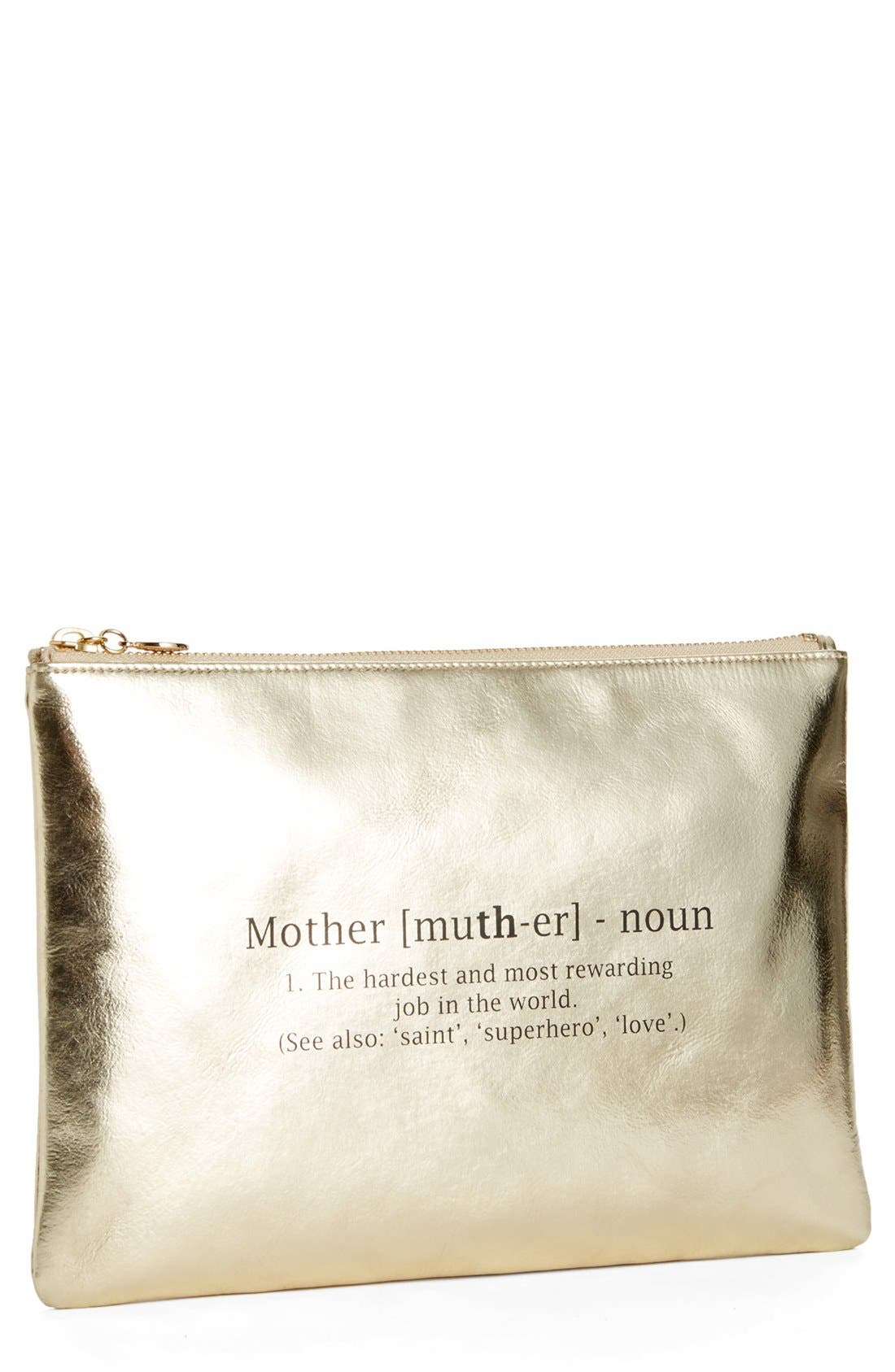 Main Image - Halogen® Leather Clutch