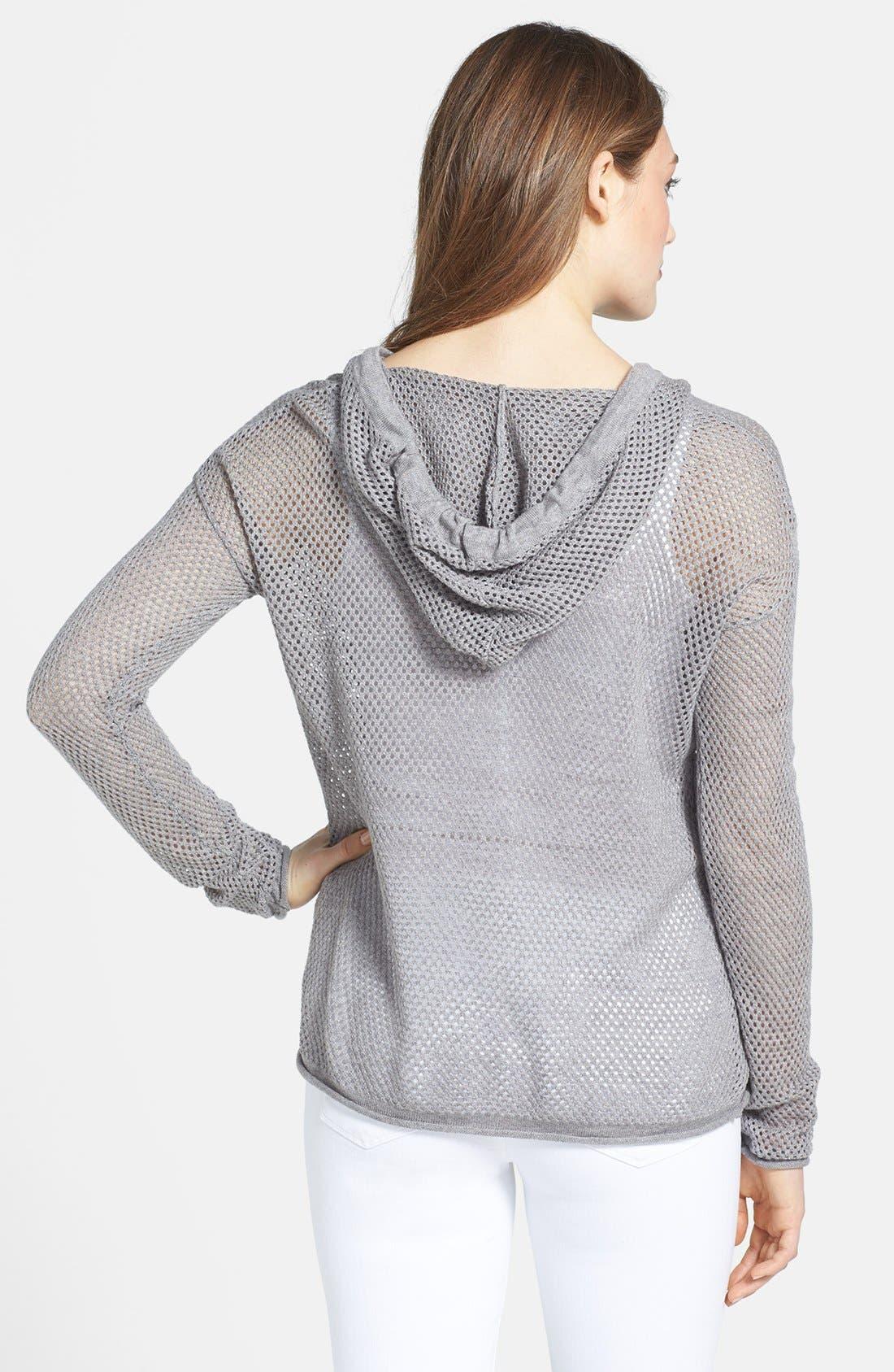 Alternate Image 2  - Sweet Romeo 'Ava' Hooded Open Stitch Sweater