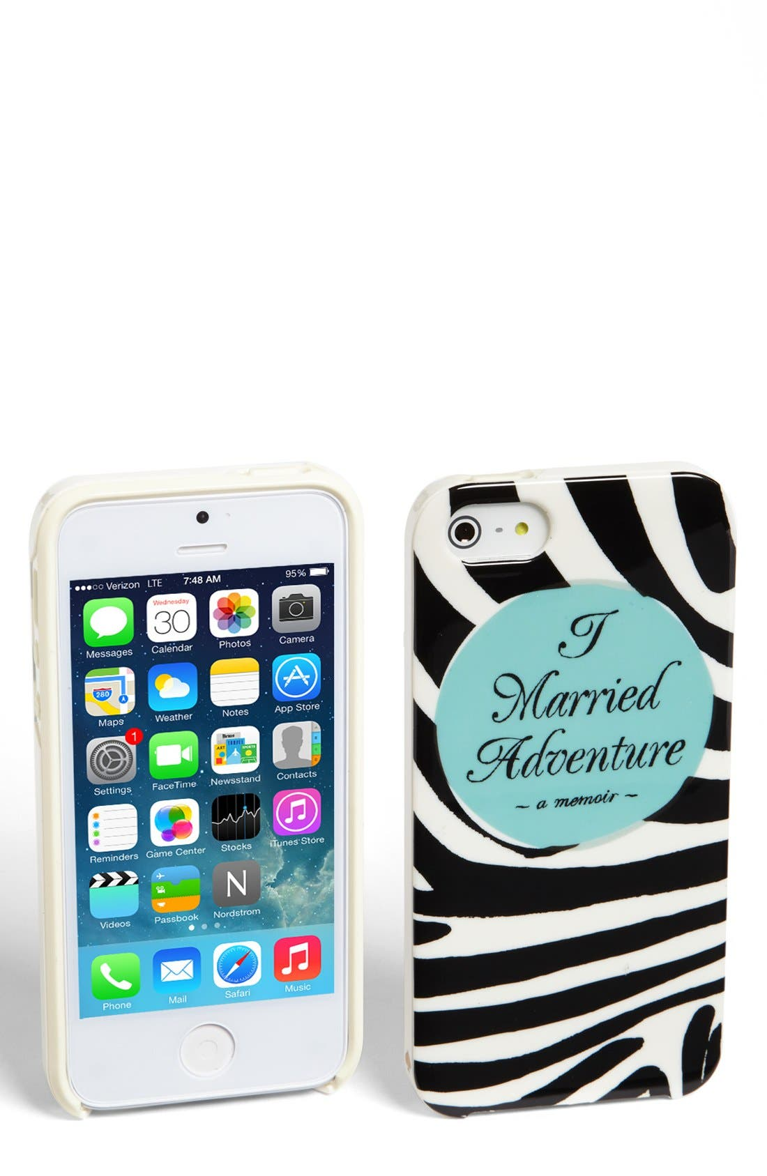 Alternate Image 1 Selected - kate spade new york 'I married adventure' iPhone 5 & 5s case