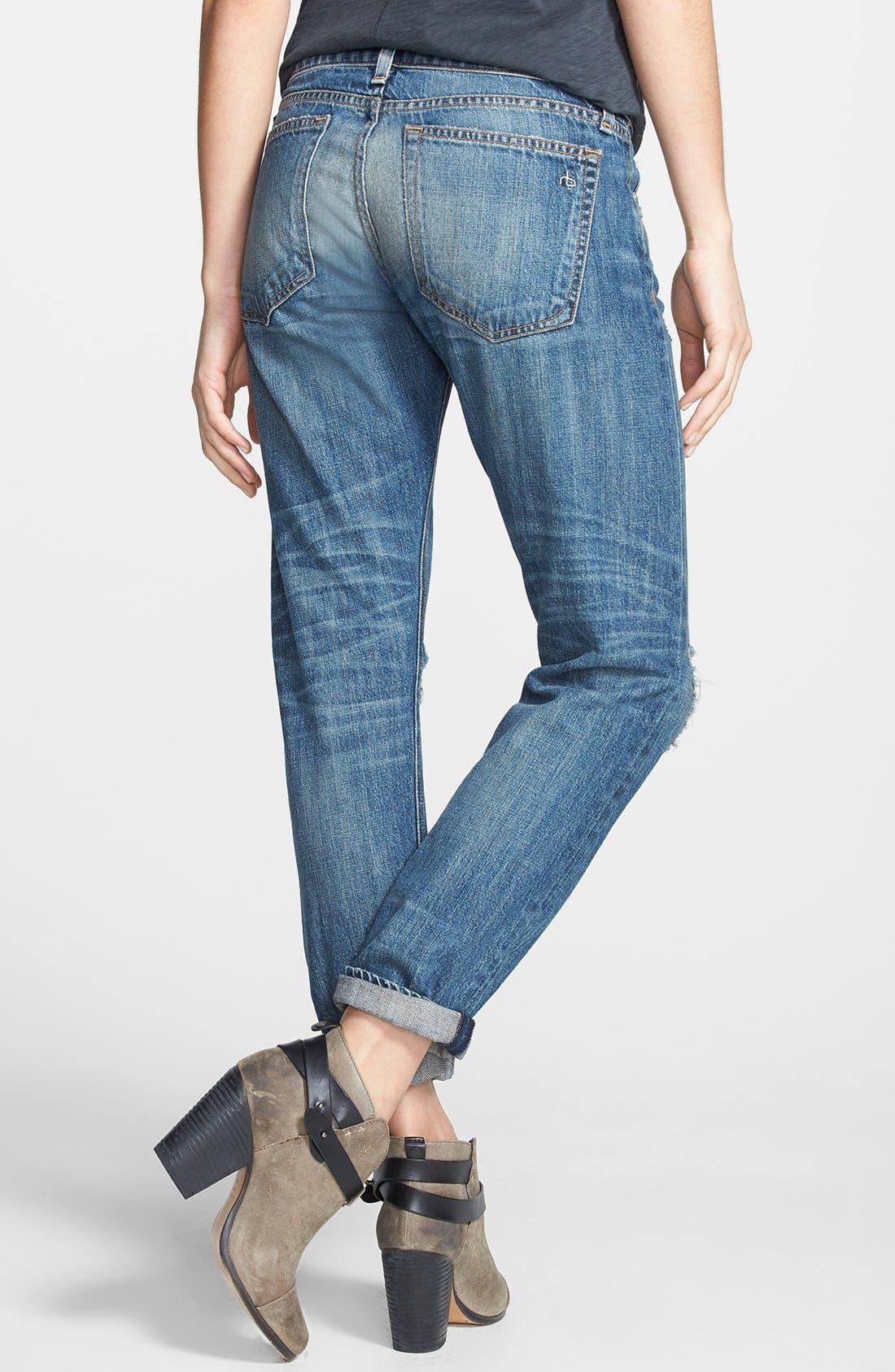 Alternate Image 2  - rag & bone/JEAN Boyfriend Jeans (Buckley)