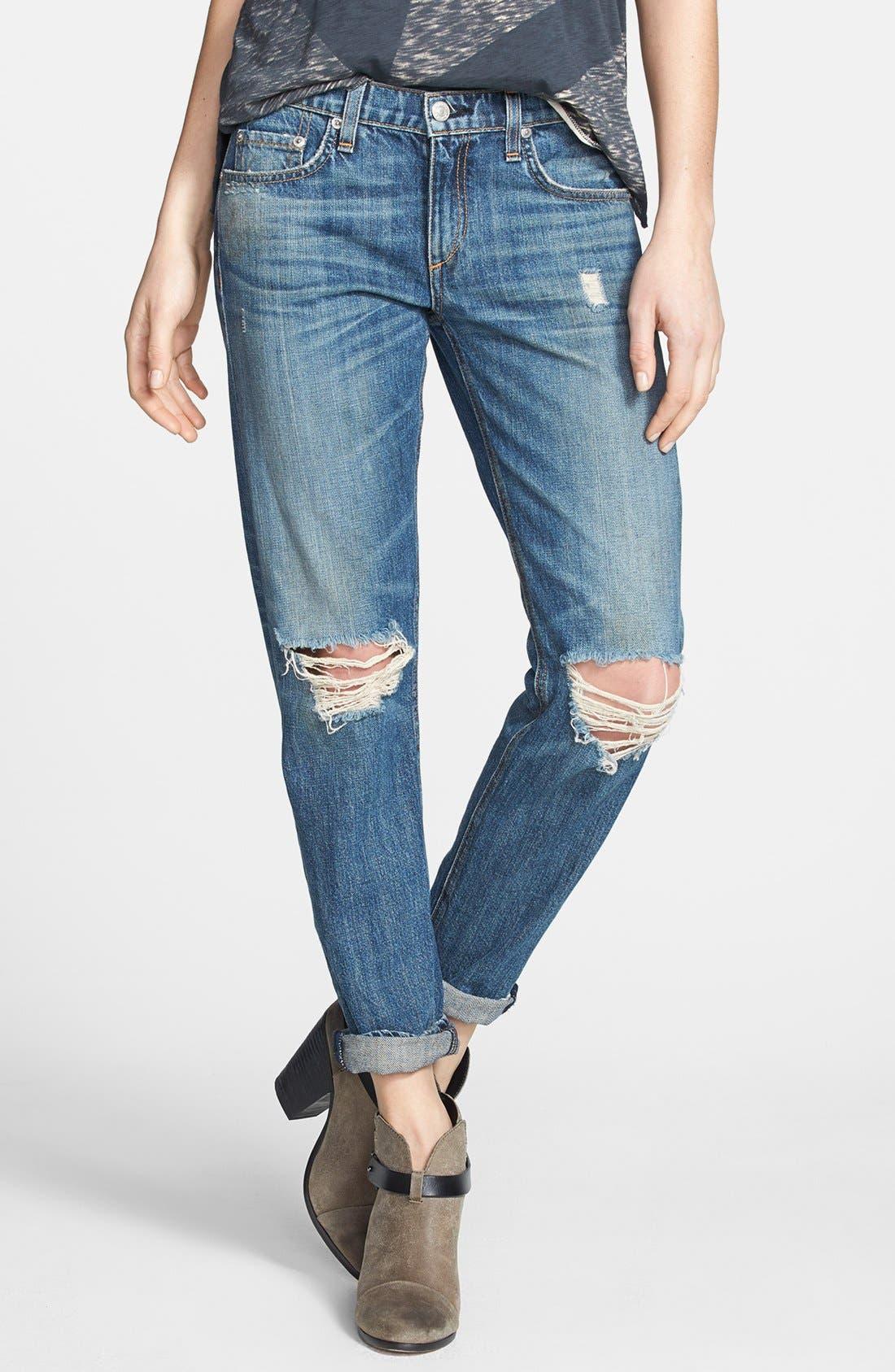 Main Image - rag & bone/JEAN Boyfriend Jeans (Buckley)