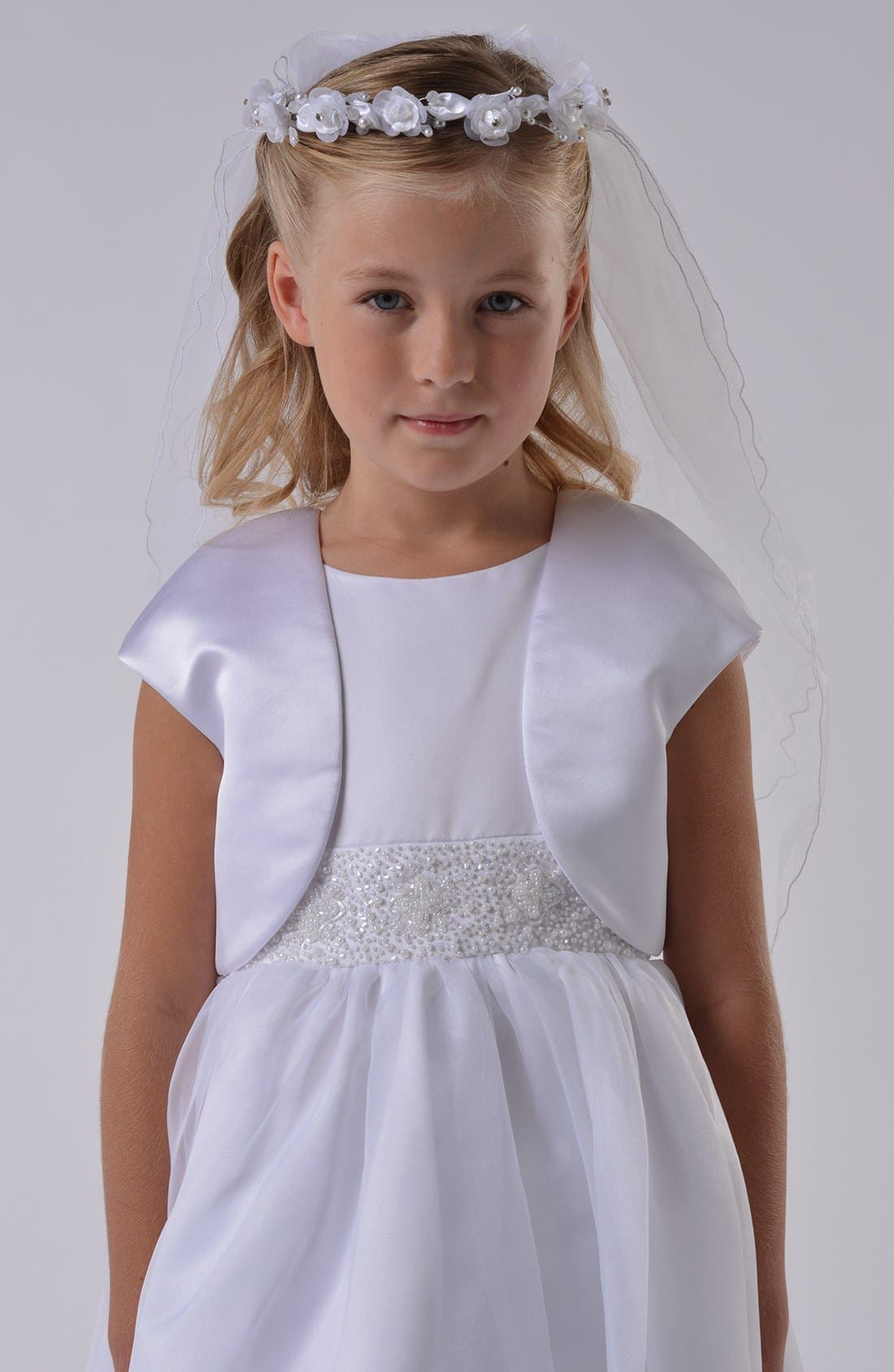Us Angels Communion Satin Bolero (Little Girls & Big Girls)