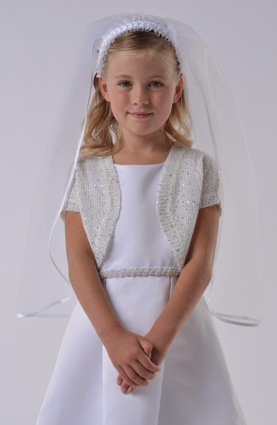 Alternate Image 1 Selected - Us Angels Communion Bolero Sweater (Little Girls & Big Girls)