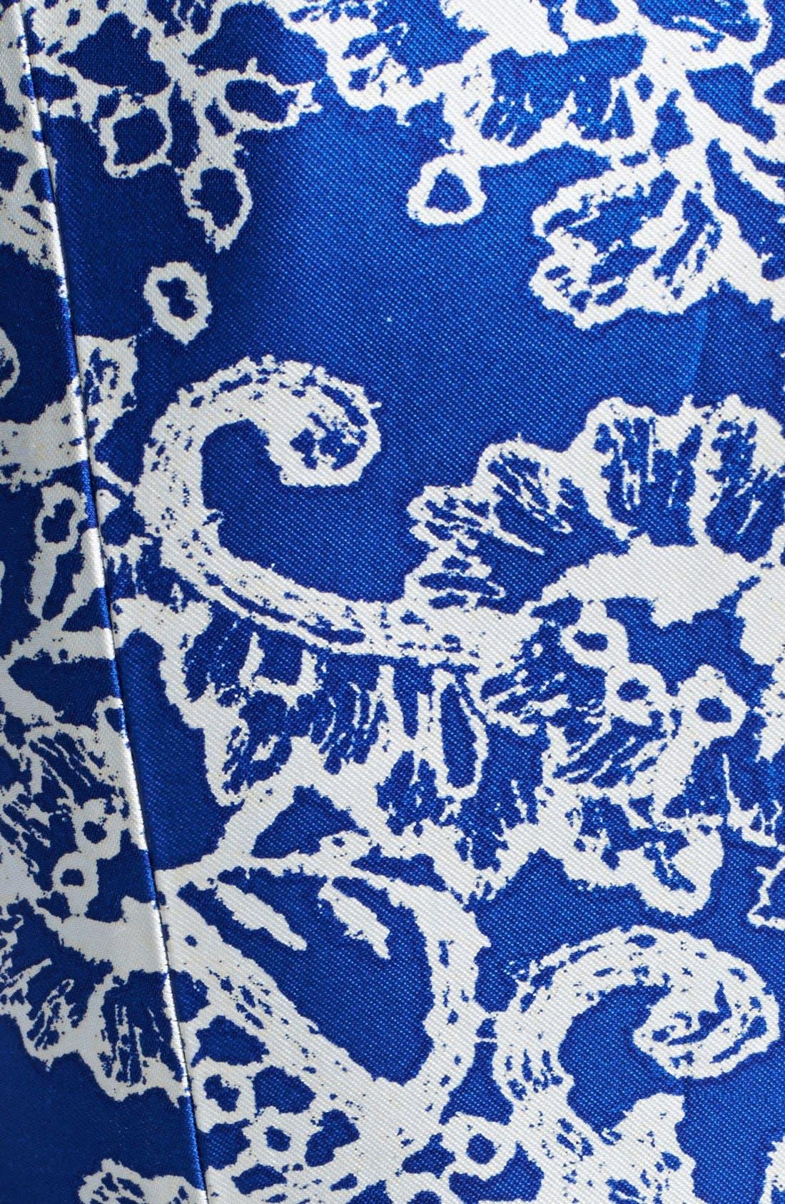 Alternate Image 3  - Oscar de la Renta Print Silk & Cotton Dress