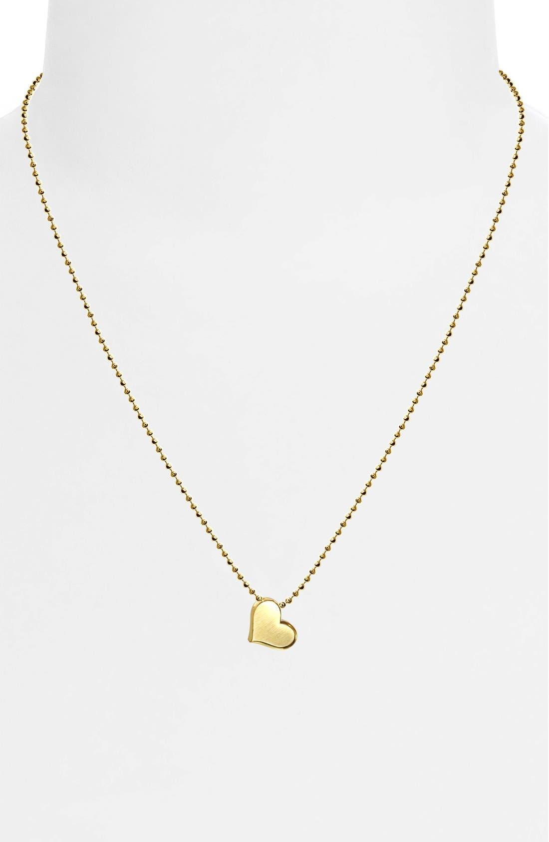 Alternate Image 2  - Alex Woo 'Little Princess' Heart Pendant Necklace