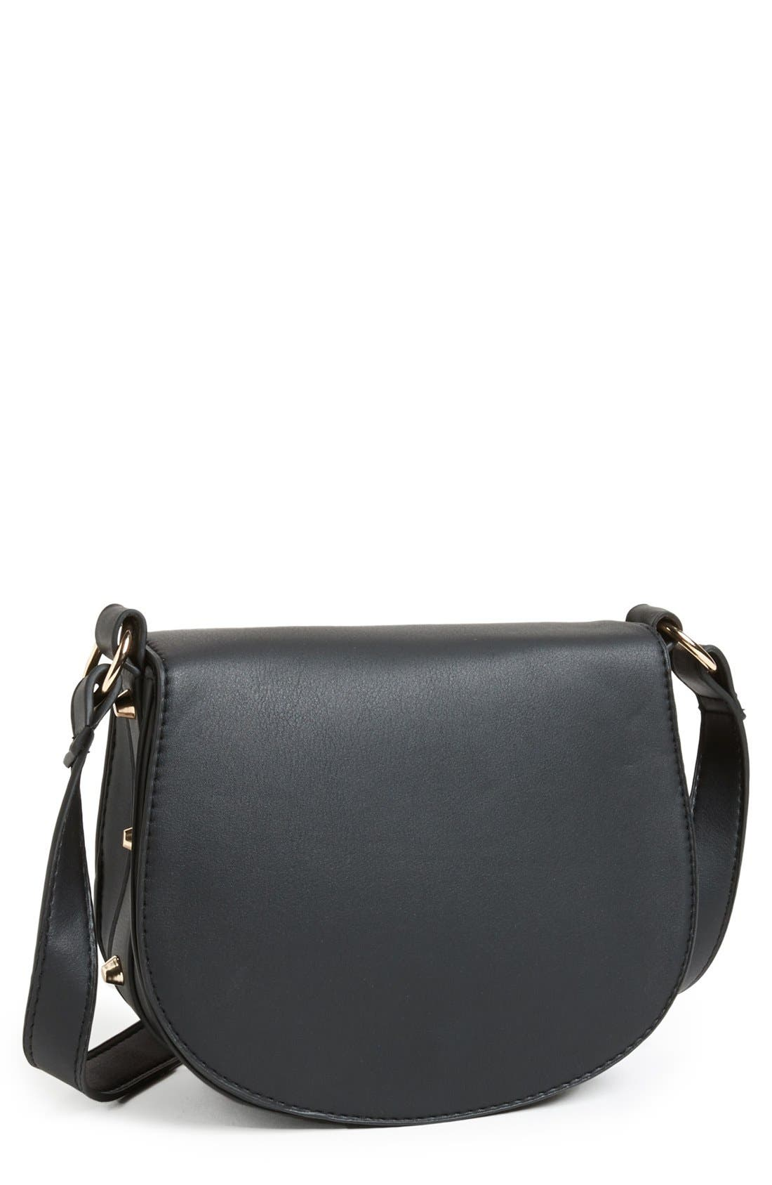 Alternate Image 1 Selected - Super Trader Studded Crossbody Bag (Juniors) (Online Only)