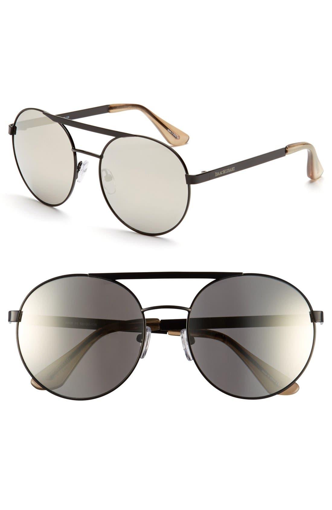 Main Image - Isaac Mizrahi New York 56mm Round Sunglasses