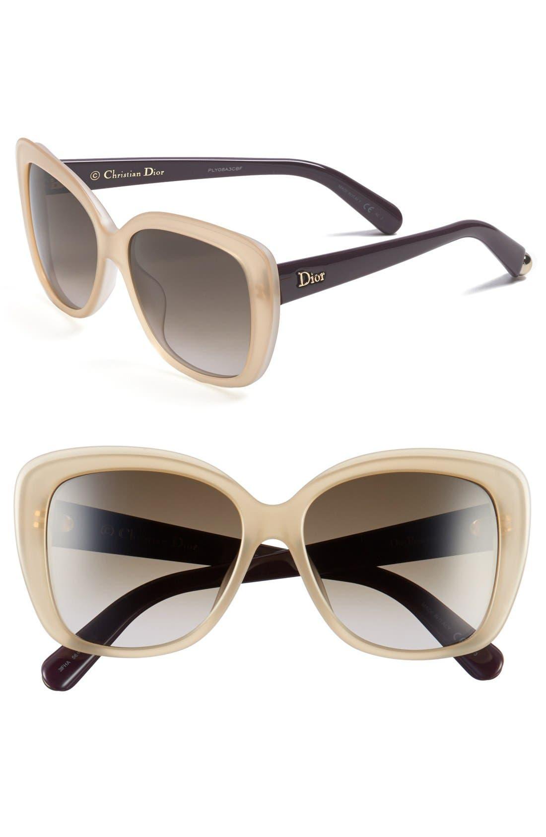 Main Image - Dior 'Promesse 2' 56mm Sunglasses