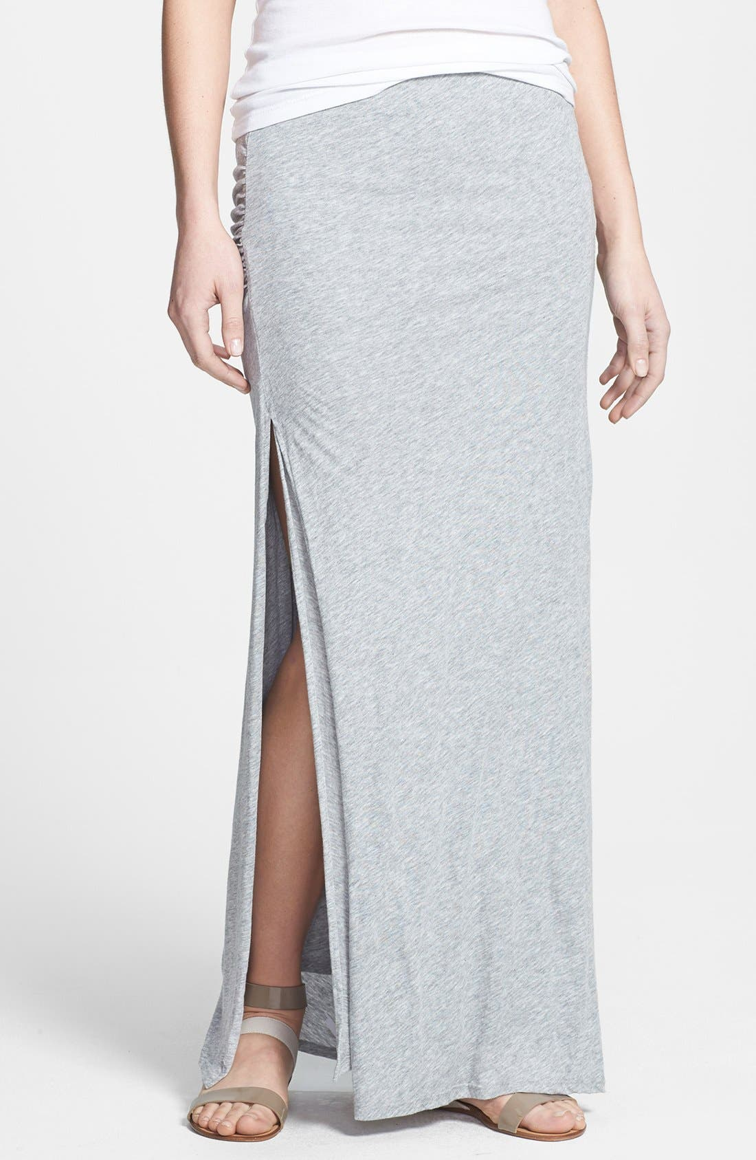 Alternate Image 1 Selected - Soft Joie 'Dacie' Side Slit Jersey Maxi Skirt