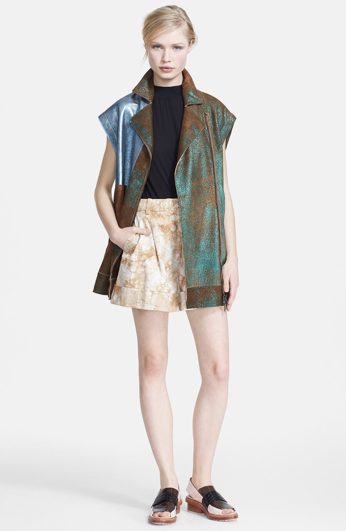 Alternate Image 3  - 3.1 Phillip Lim Foiled Moto Leather Vest