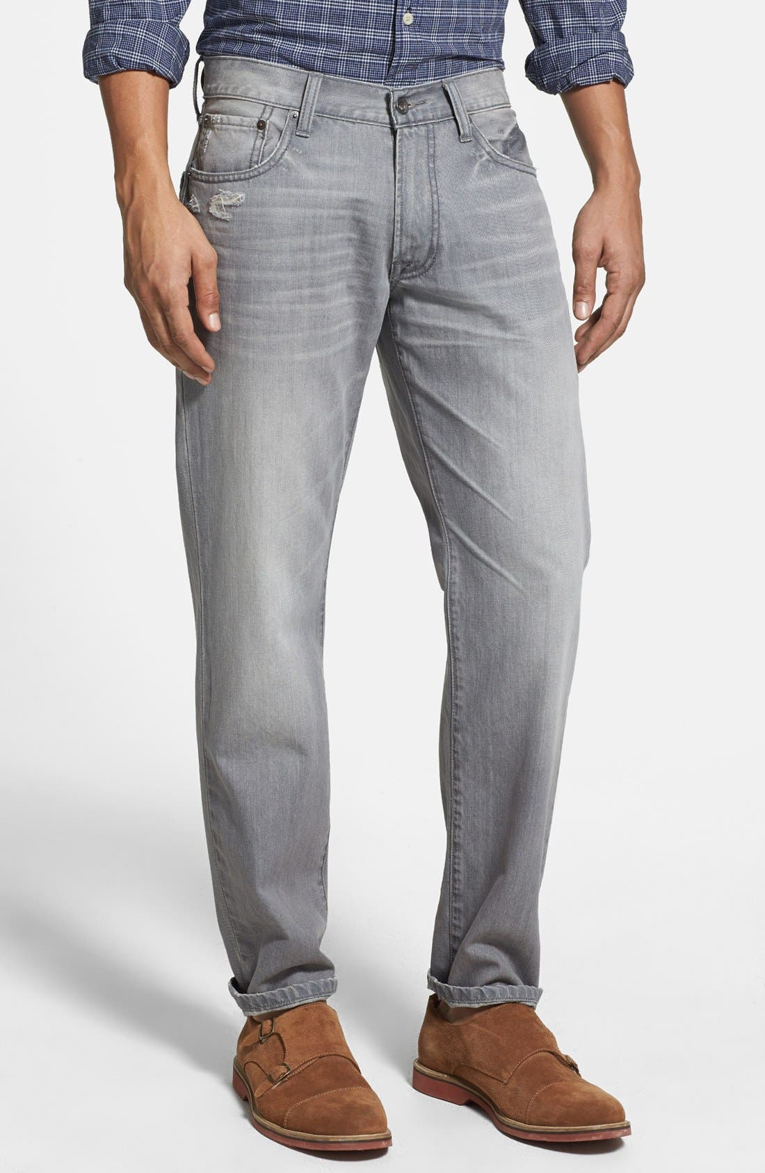 Alternate Image 1 Selected - Lucky Brand '221 Original' Straight Leg Jeans (Sediment)