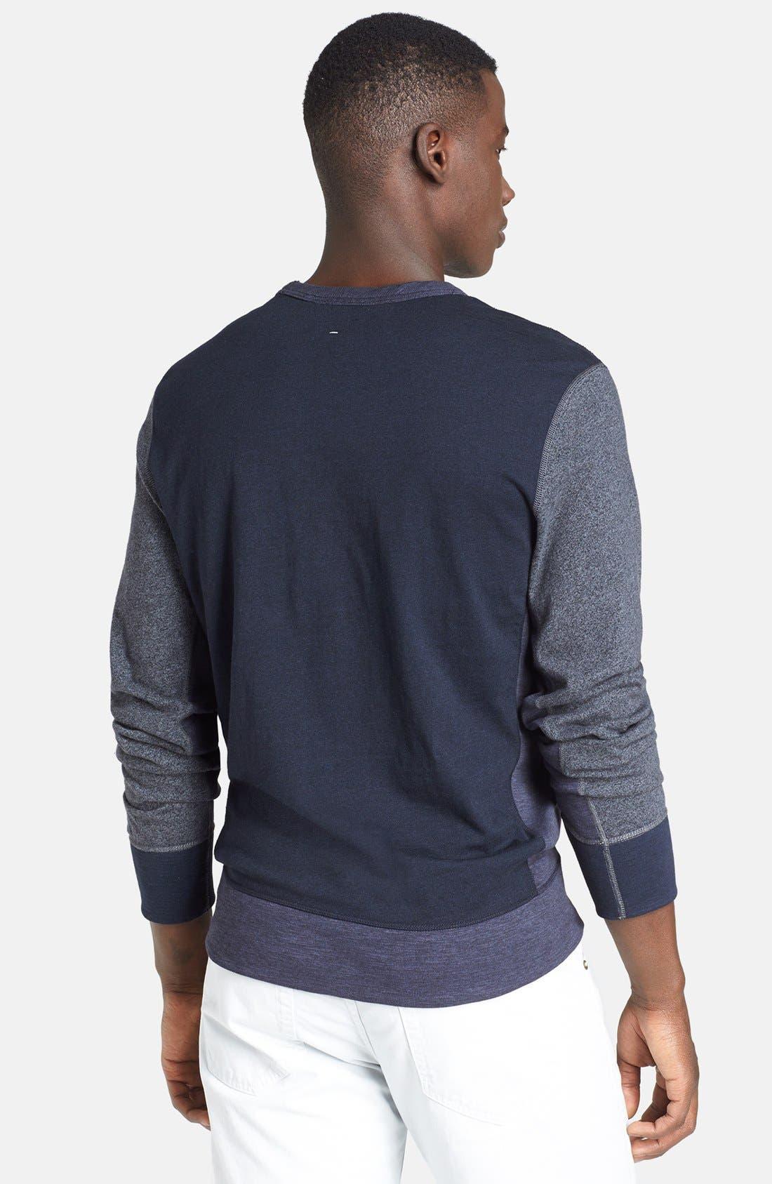 Alternate Image 2  - rag & bone Colorblock Flame Jersey Crewneck Sweatshirt