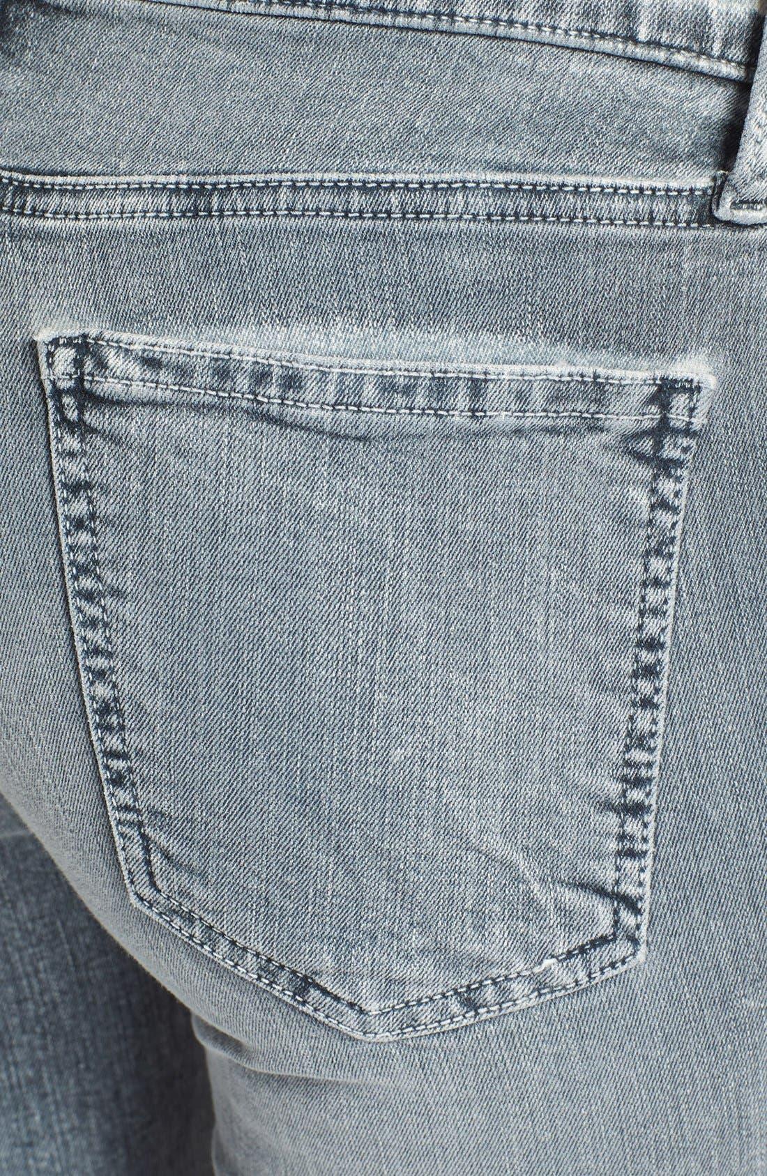 Alternate Image 3  - Current/Elliott 'The Soho' Zip Stiletto Skinny Jeans (Bleach Out Navy)