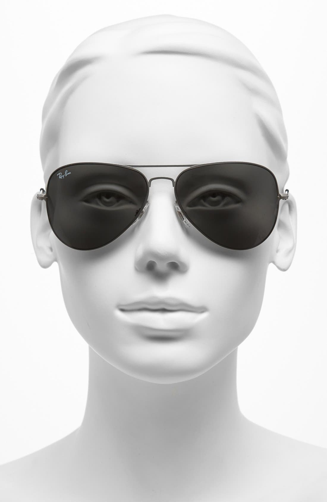 Alternate Image 2  - Ray-Ban 58mm Steel Aviator Sunglasses