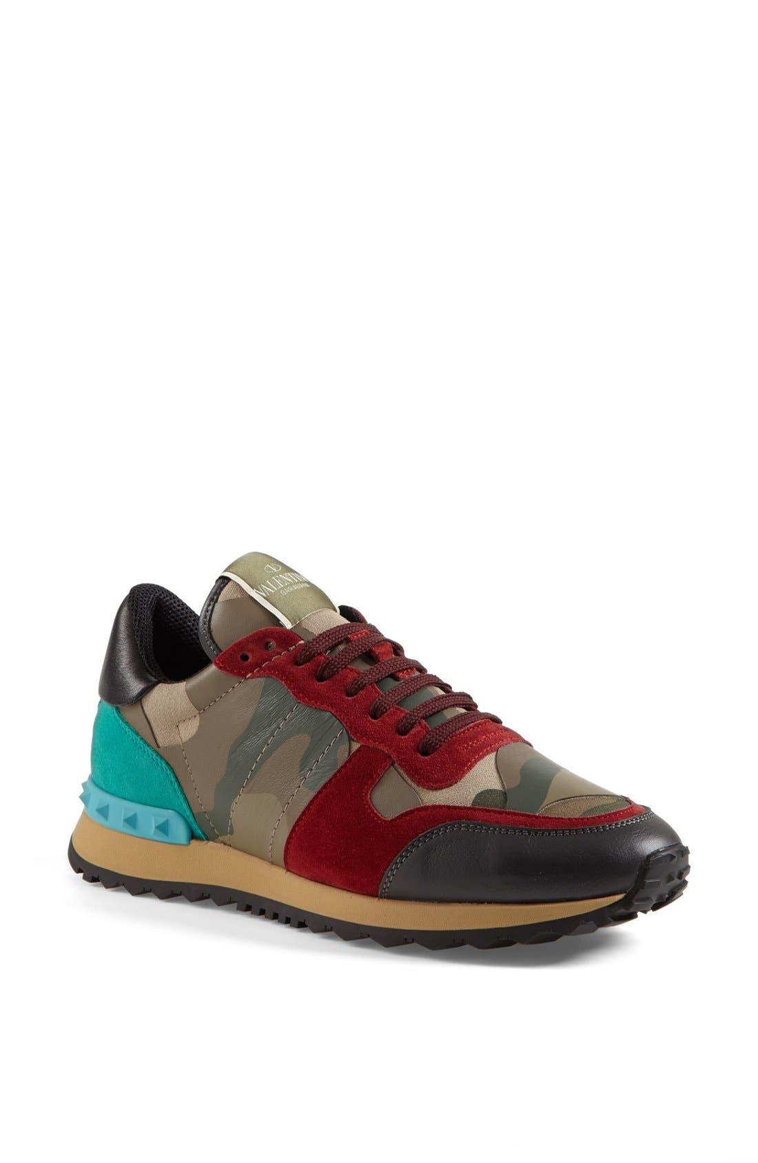 Main Image - Valentino Camouflage Sneaker