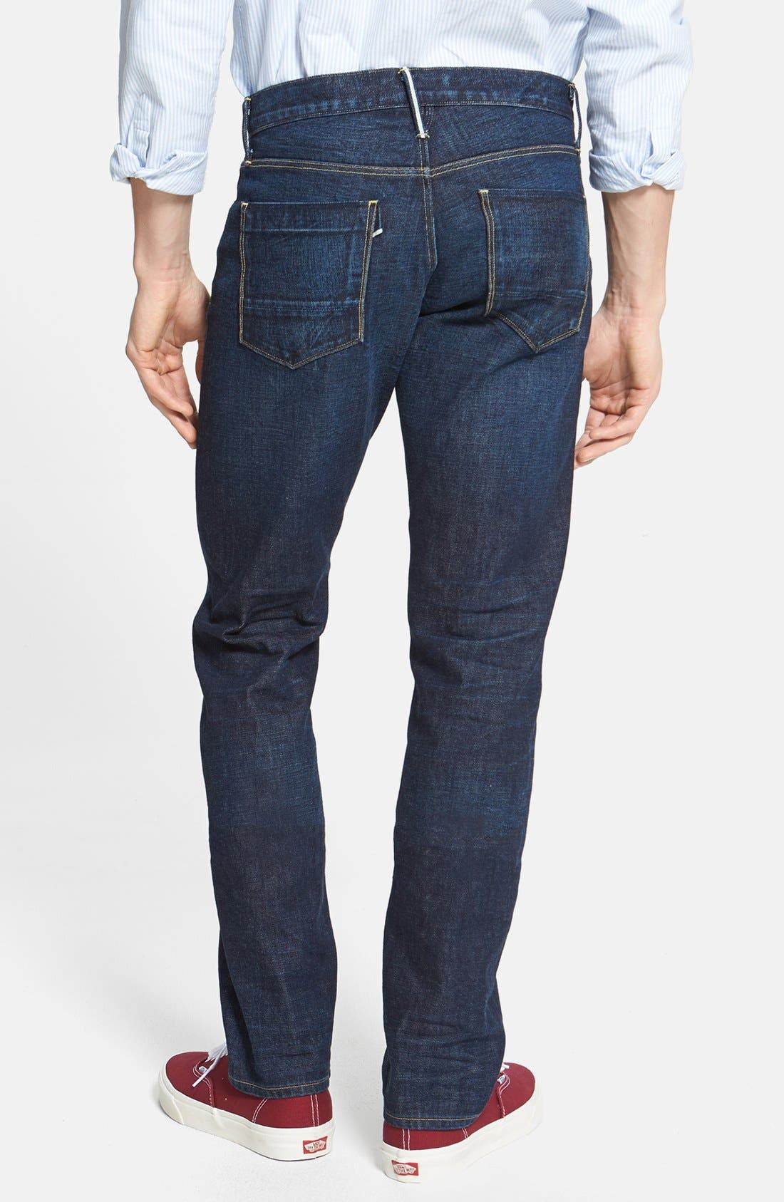 Alternate Image 2  - 3x1 NYC 'M4' Straight Leg Selvedge Jeans (Walker)