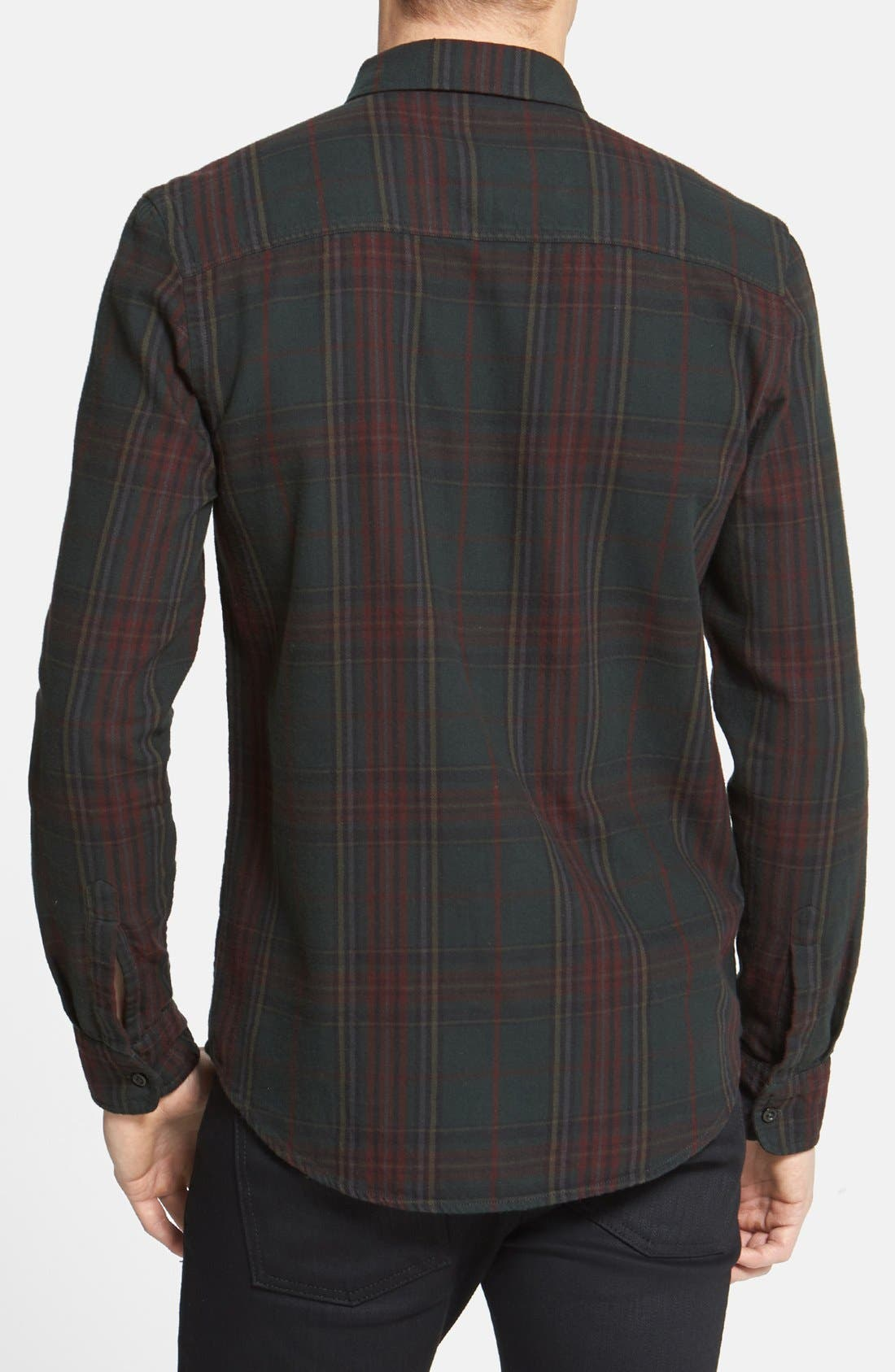 Alternate Image 2  - Topman Classic Fit Tartan Plaid Flannel Shirt