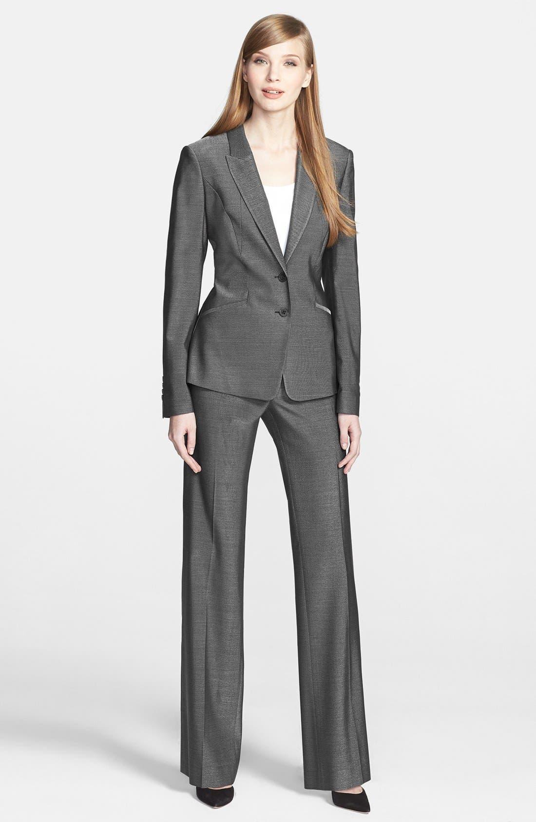 Alternate Image 4  - BOSS HUGO BOSS 'Jolisa' Stretch Wool Suiting Jacket