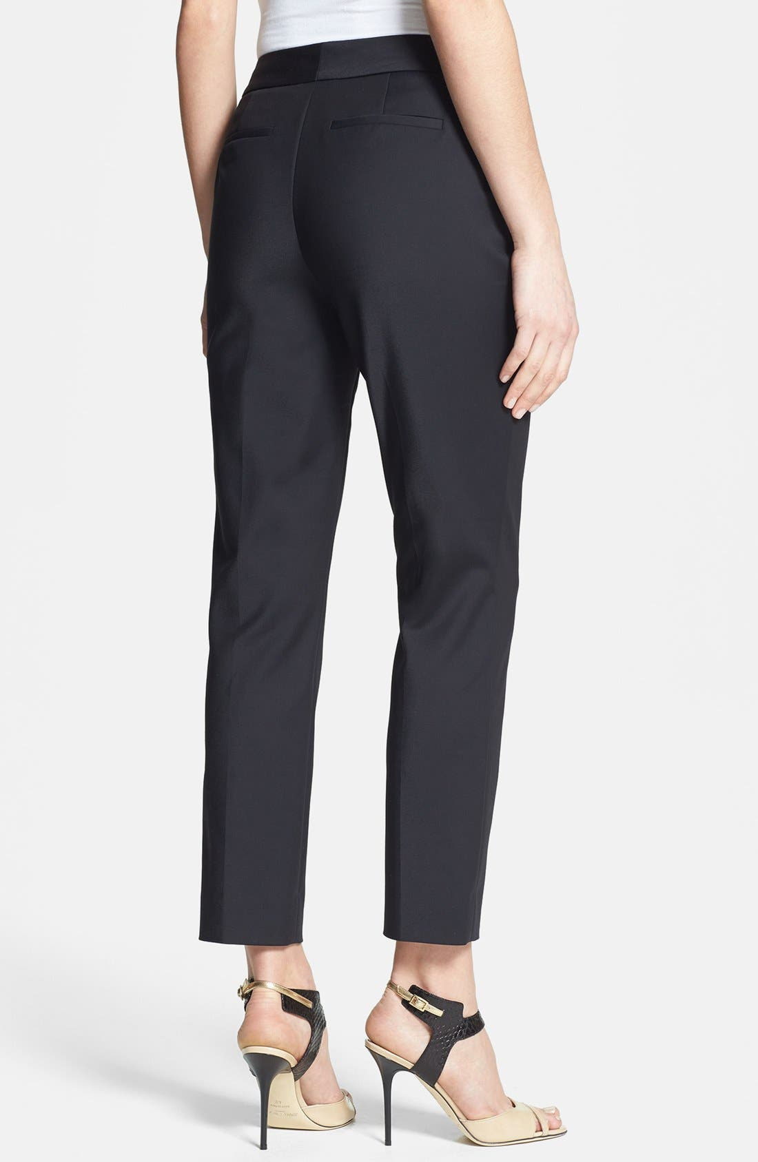 Alternate Image 2  - Nordstrom Collection Stretch Ankle Pants