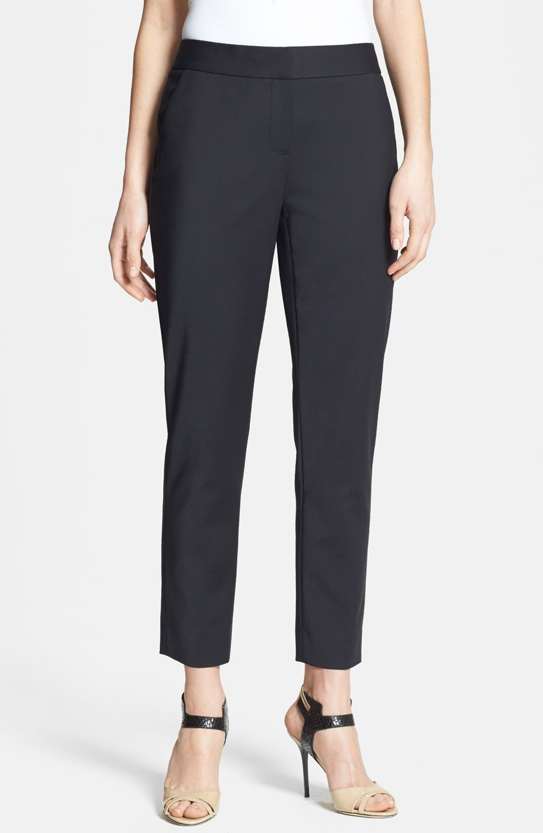 Alternate Image 1 Selected - Nordstrom Collection Stretch Ankle Pants