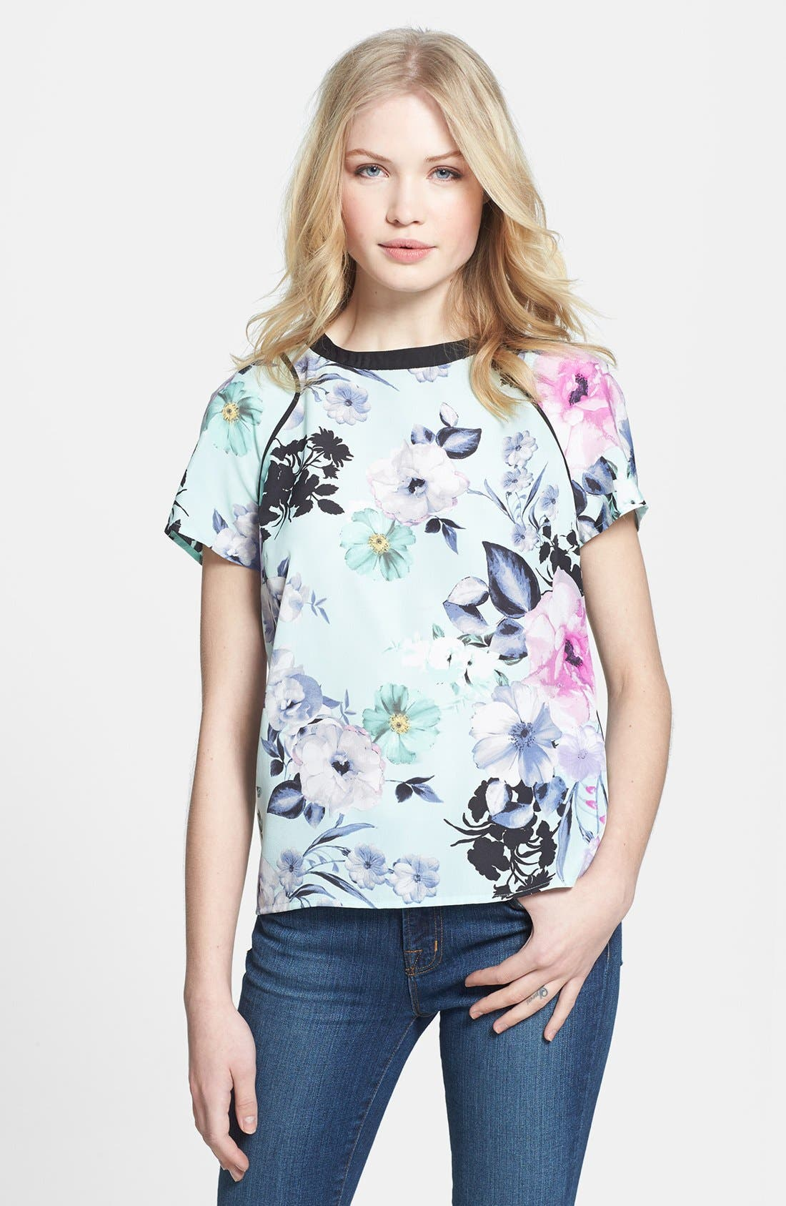 Alternate Image 1 Selected - 1.STATE Floral Print Tee