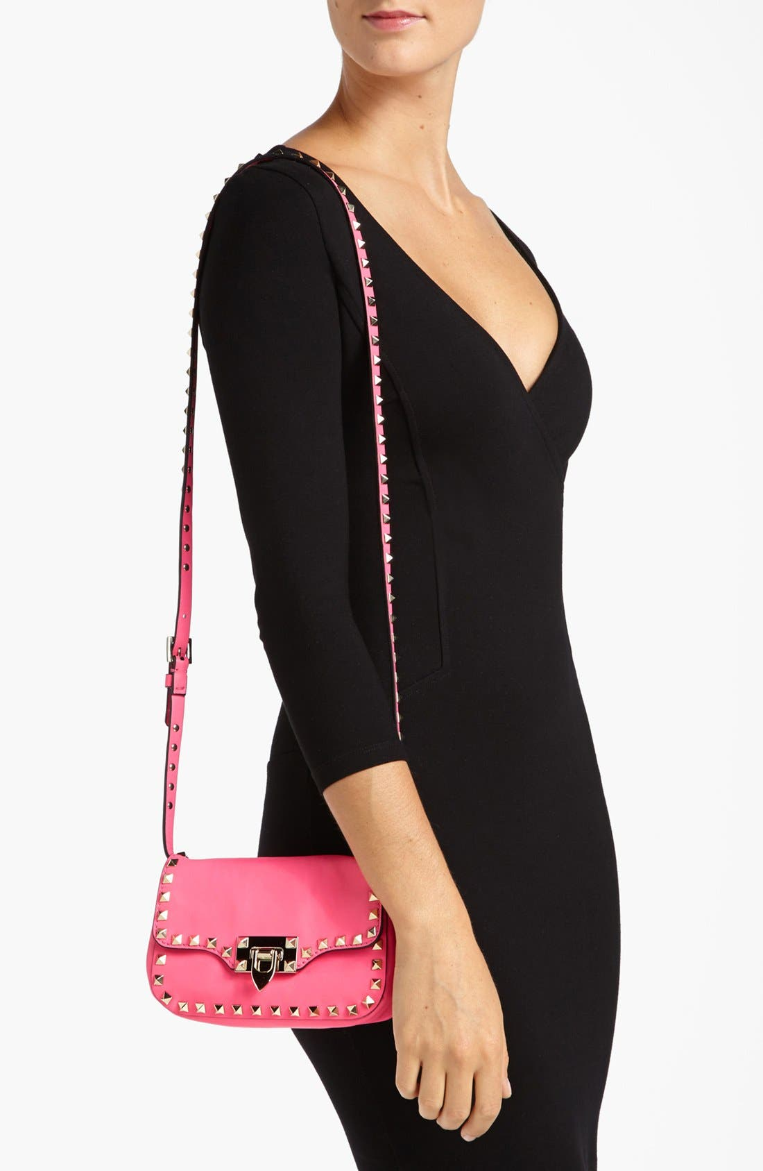 Alternate Image 2  - Valentino 'Small Rockstud' Flap Bag