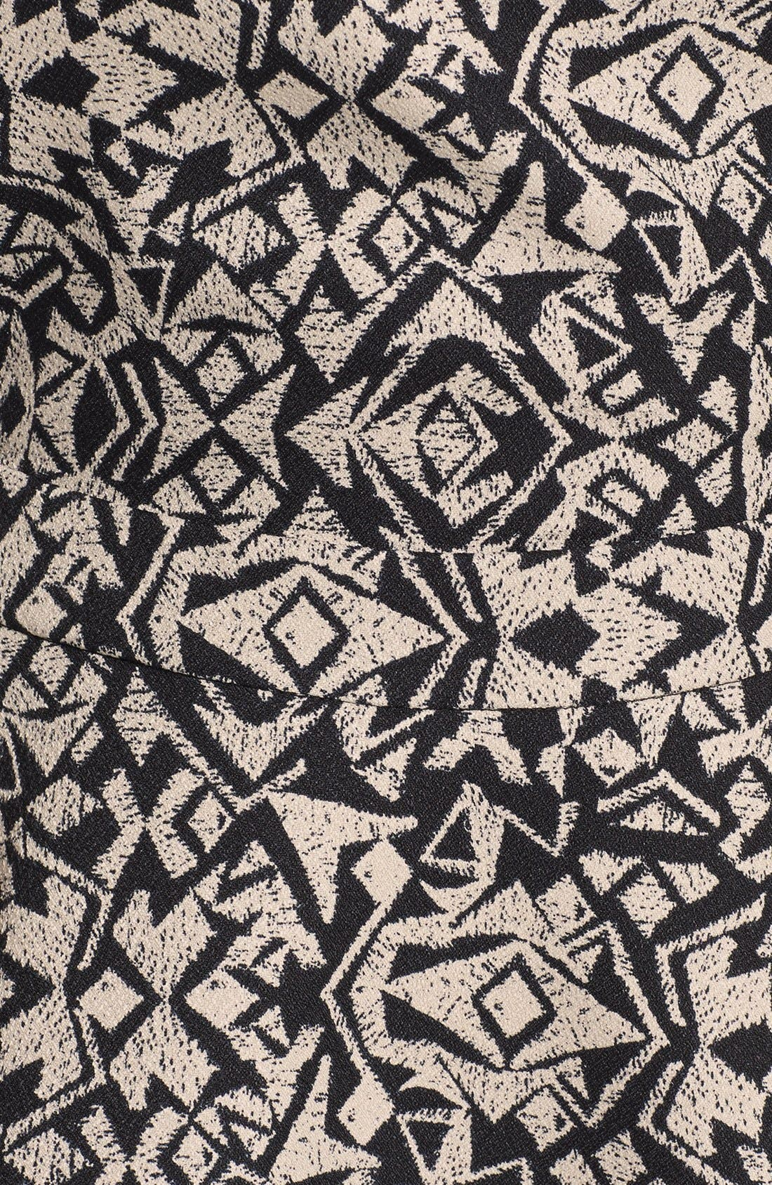 Alternate Image 3  - Lush Print Pinafore Dress (Juniors)