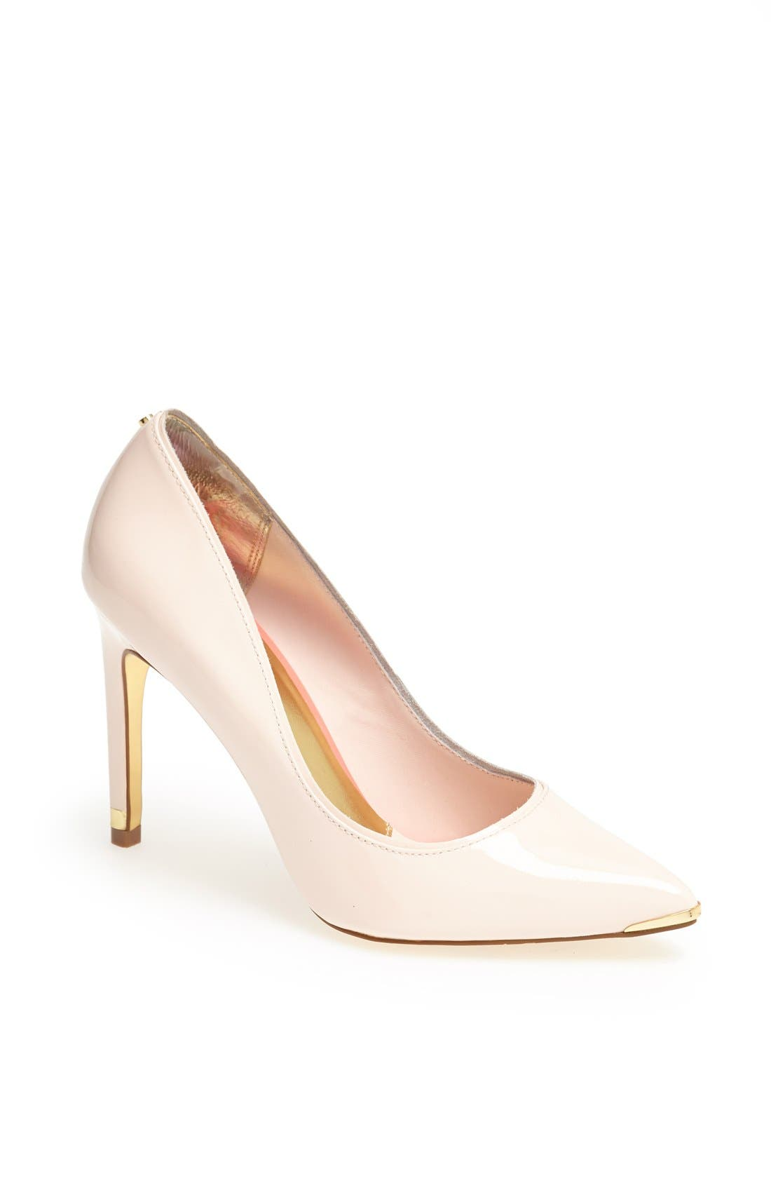 Main Image - Ted Baker London 'Thaya' Leather Pointy Toe Pump