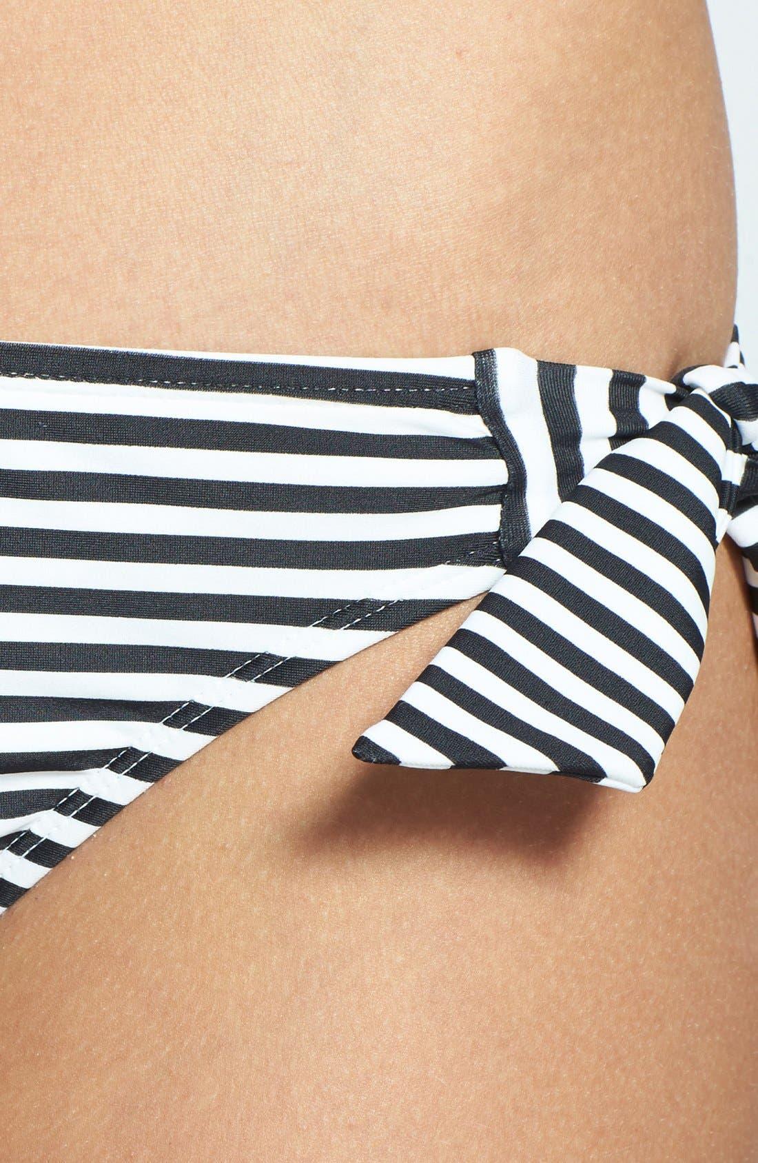 Alternate Image 5  - Roxy 'Sunset Stripes' Side Tie Low-Rise Bikini Bottoms