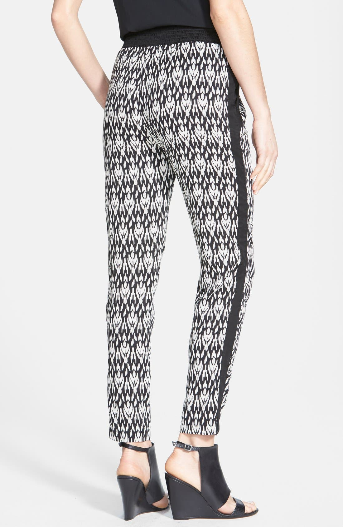 Alternate Image 2  - Max & Mia Pleat Front Print Pants