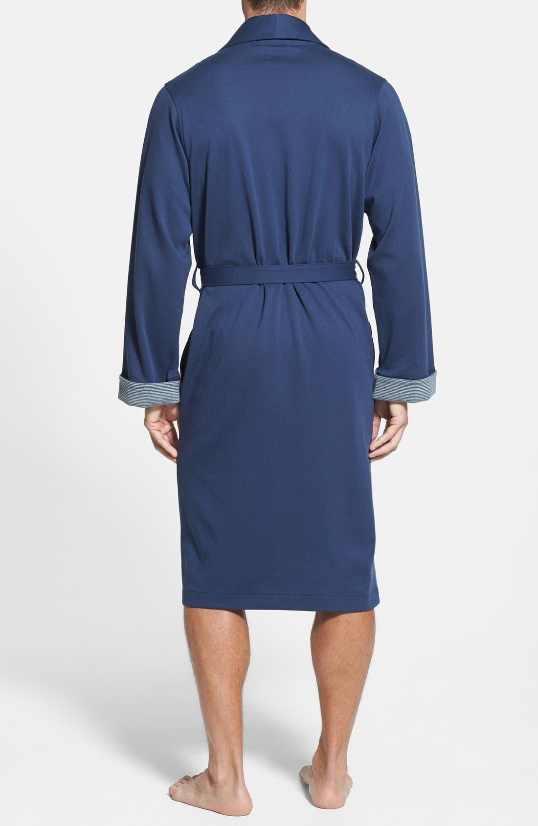 Alternate Image 2  - BOSS HUGO BOSS Cotton Blend Robe
