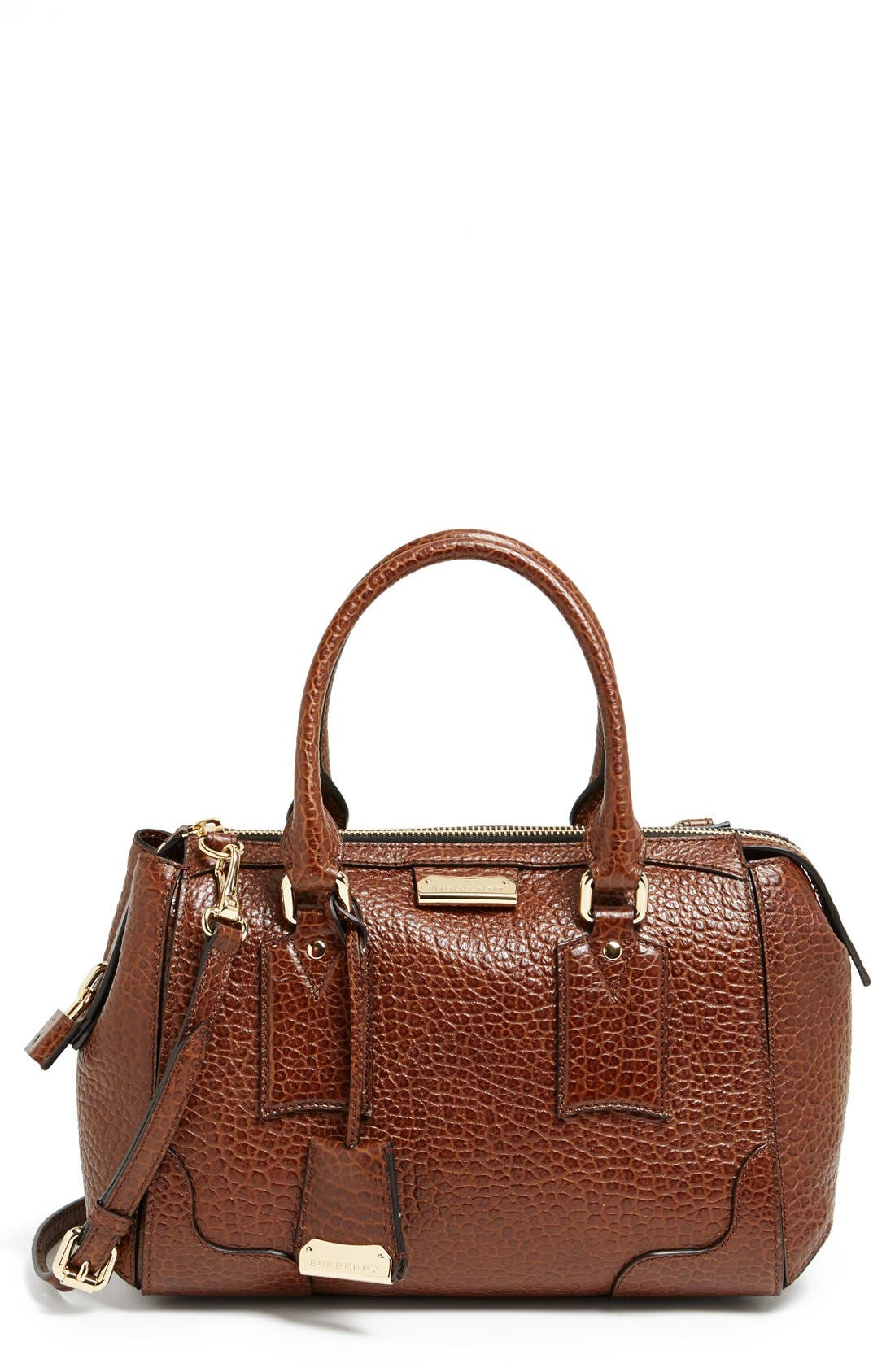 Alternate Image 1 Selected - Burberry 'Small Gladstone' Leather Satchel