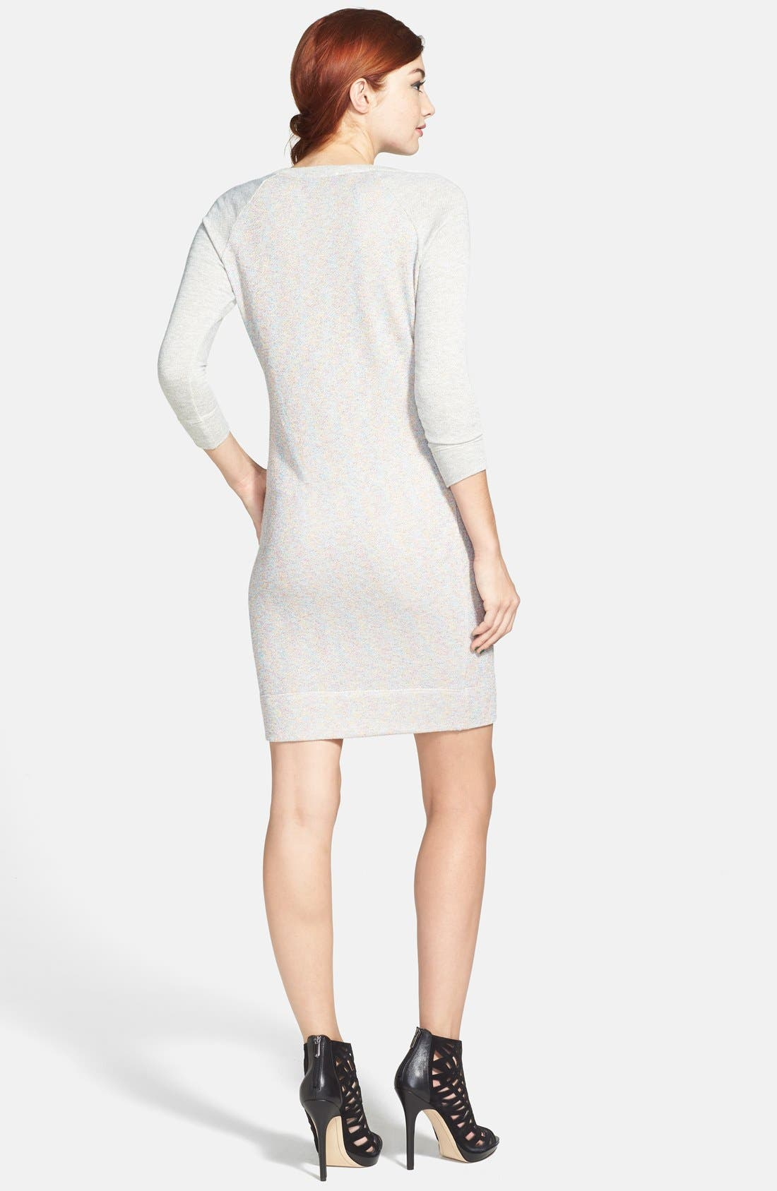 Alternate Image 2  - Socialite French Terry Body-Con Dress (Juniors) (Online Only)