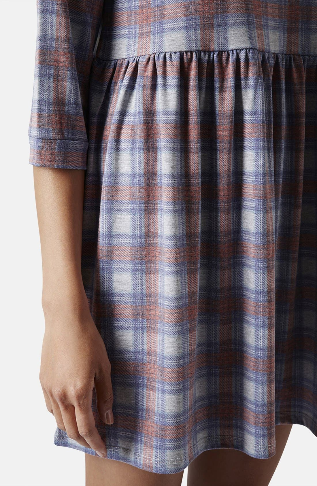 Alternate Image 4  - Topshop Check Smock Dress