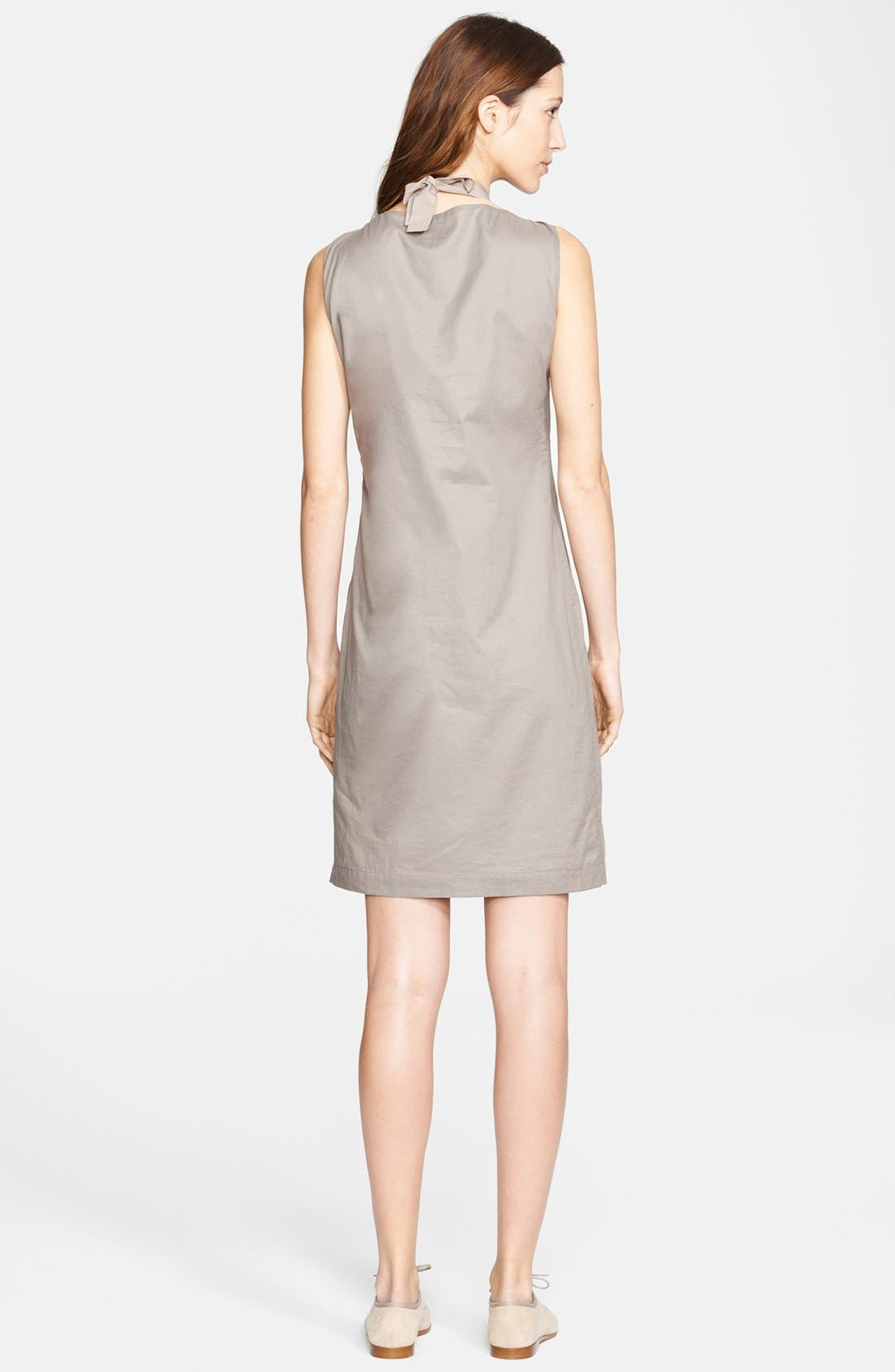 Alternate Image 2  - Fabiana Filippi Beaded Neck Pleated Cotton Dress