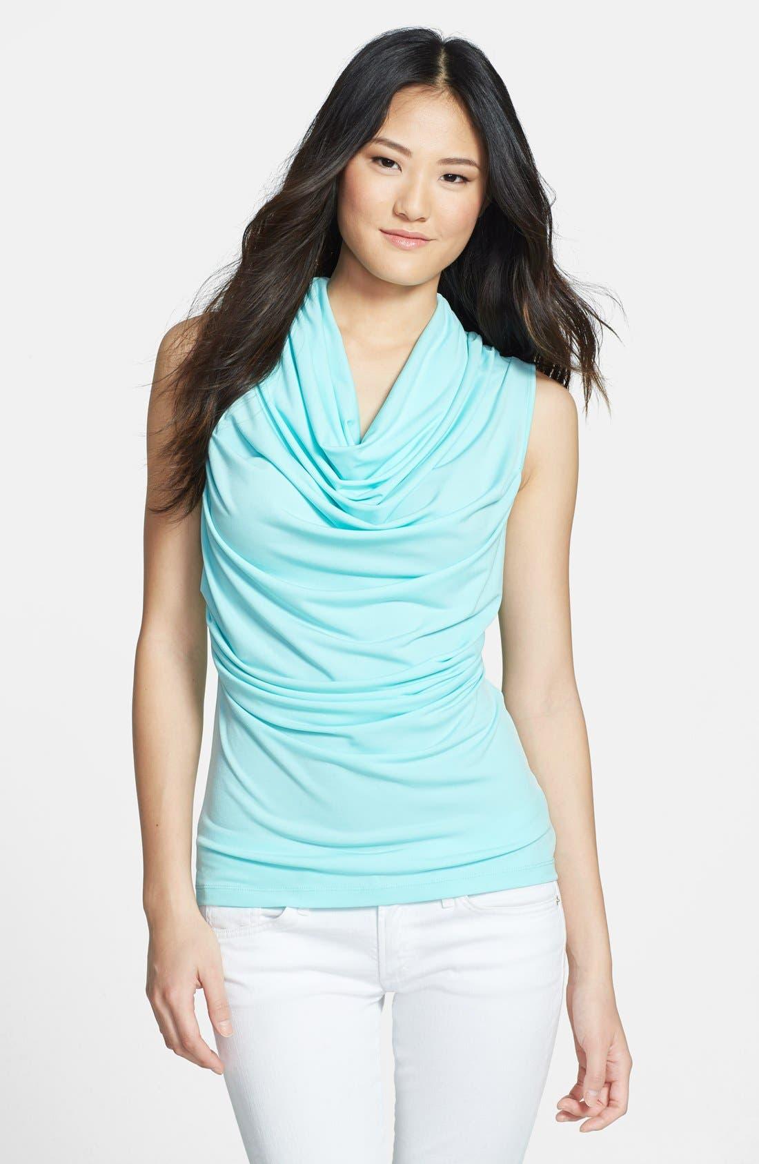 Alternate Image 1 Selected - Calvin Klein Drape Cowl Sleeveless Top