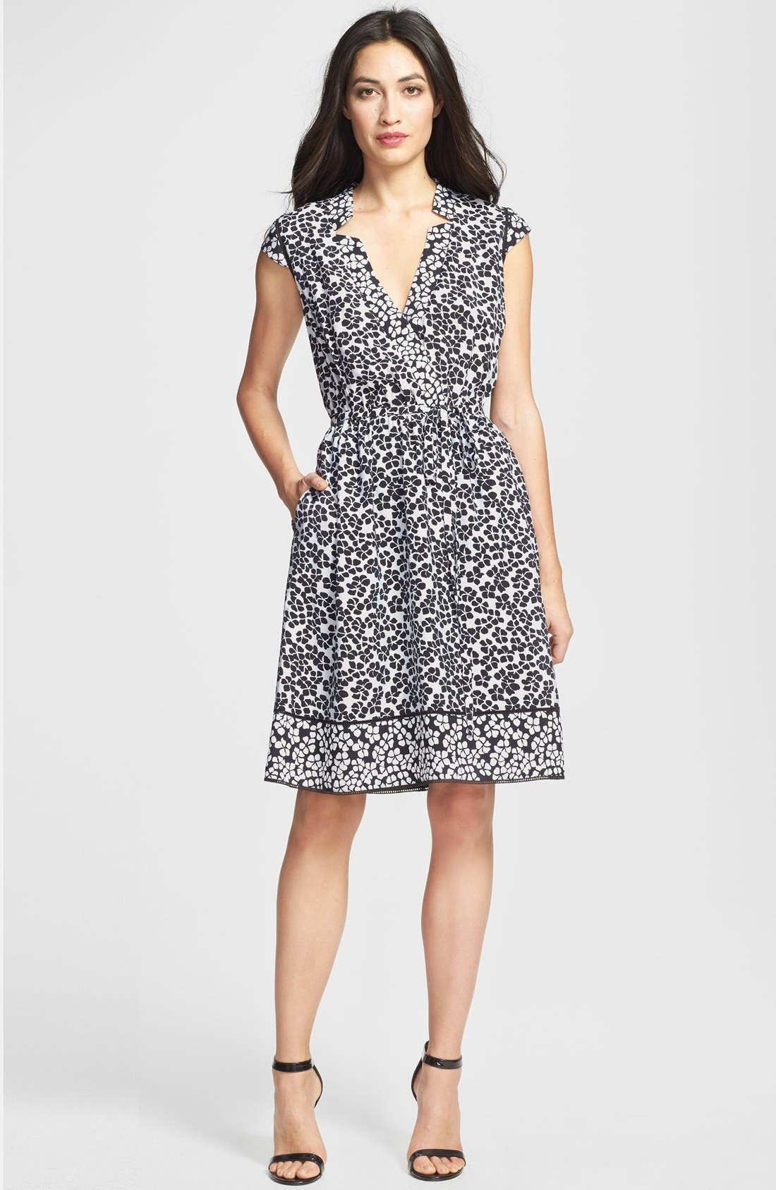 Alternate Image 3  - Adrianna Papell Floral Print Faux Wrap Dress