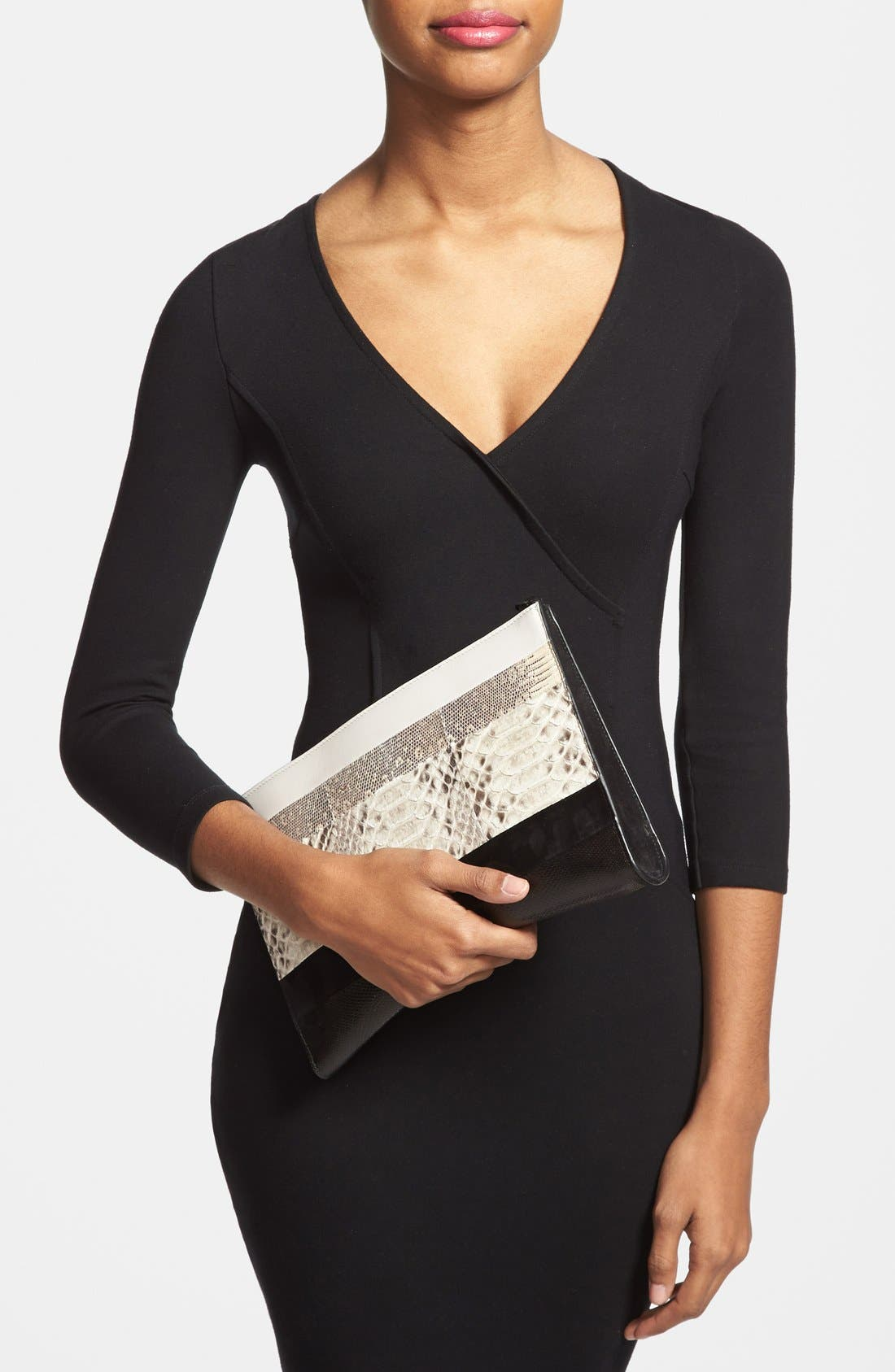 Alternate Image 2  - Narciso Rodriguez 'Boomerang' Genuine Python, Lizard & Leather Clutch