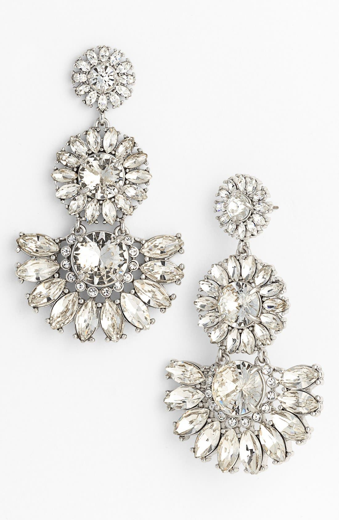 Main Image - kate spade new york 'estate garden' crystal drop earrings