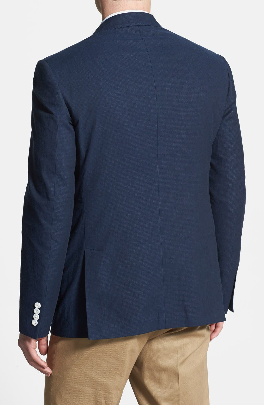 Alternate Image 2  - 2BSV NAVY GINGHAM SPORTCOAT