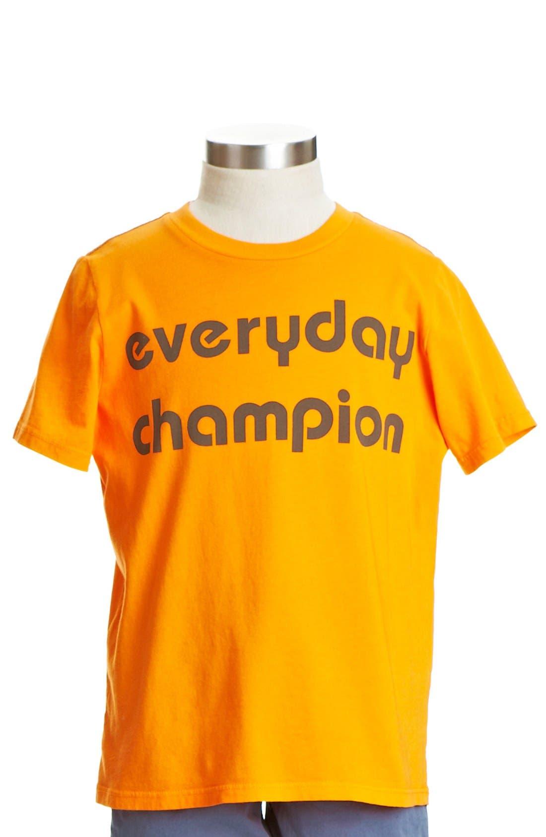 Alternate Image 1 Selected - Peek 'Everyday Champion' T-Shirt (Toddler Boys, Little Boys & Big Boys)