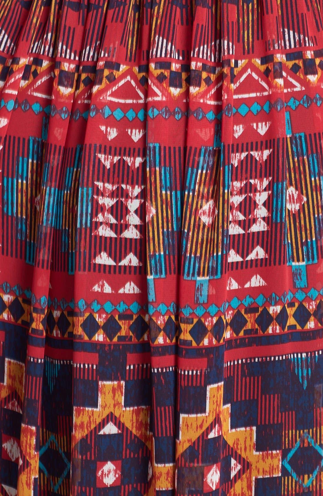 Alternate Image 3  - Maggy London Print Chiffon Maxi Dress