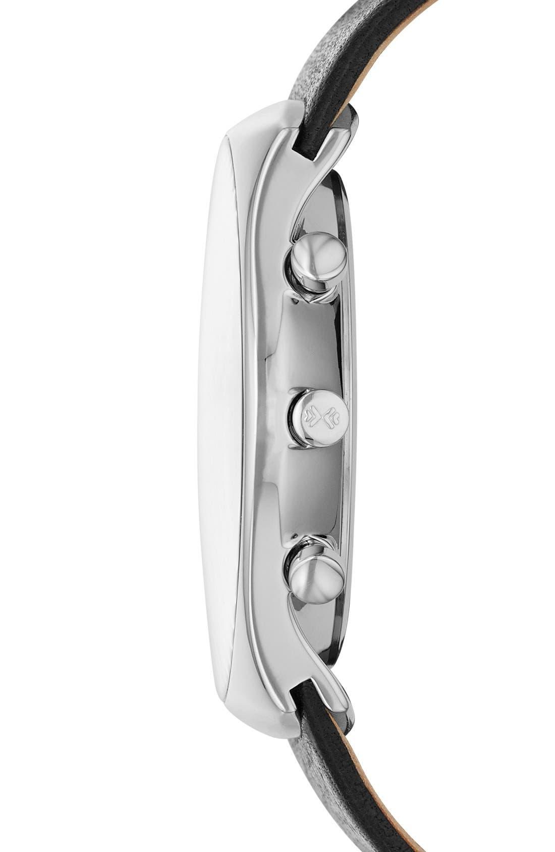 Alternate Image 3  - Skagen 'Havene' Chronograph Leather Strap Watch, 42mm