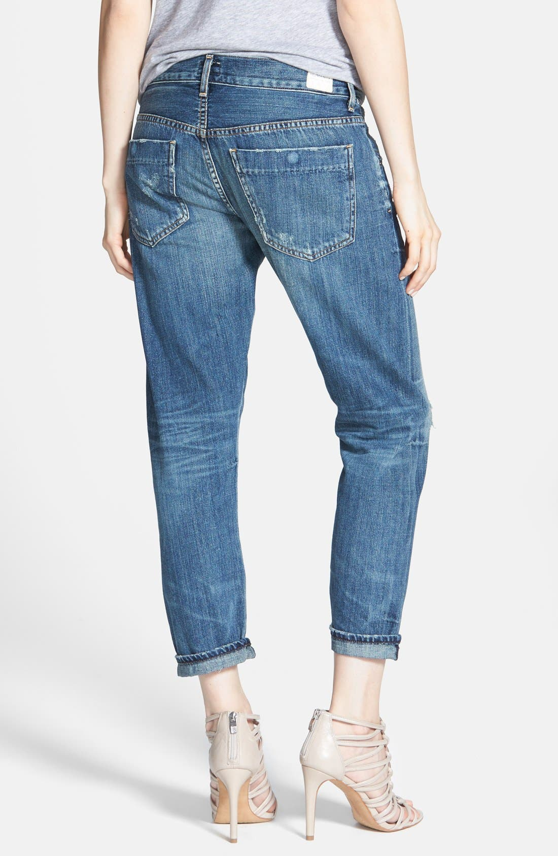 Alternate Image 2  - Citizens of Humanity 'Premium Vintage - Skyler' Distressed Crop Jeans (Legacy)