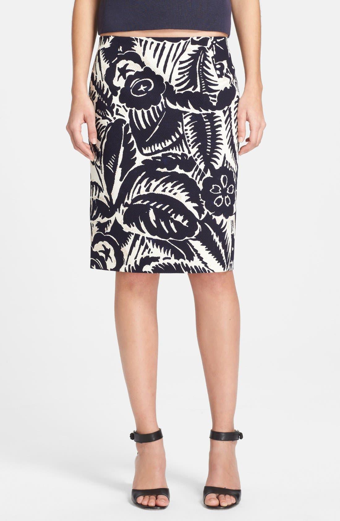 Alternate Image 1 Selected - MARC JACOBS Print Piqué Pencil Skirt