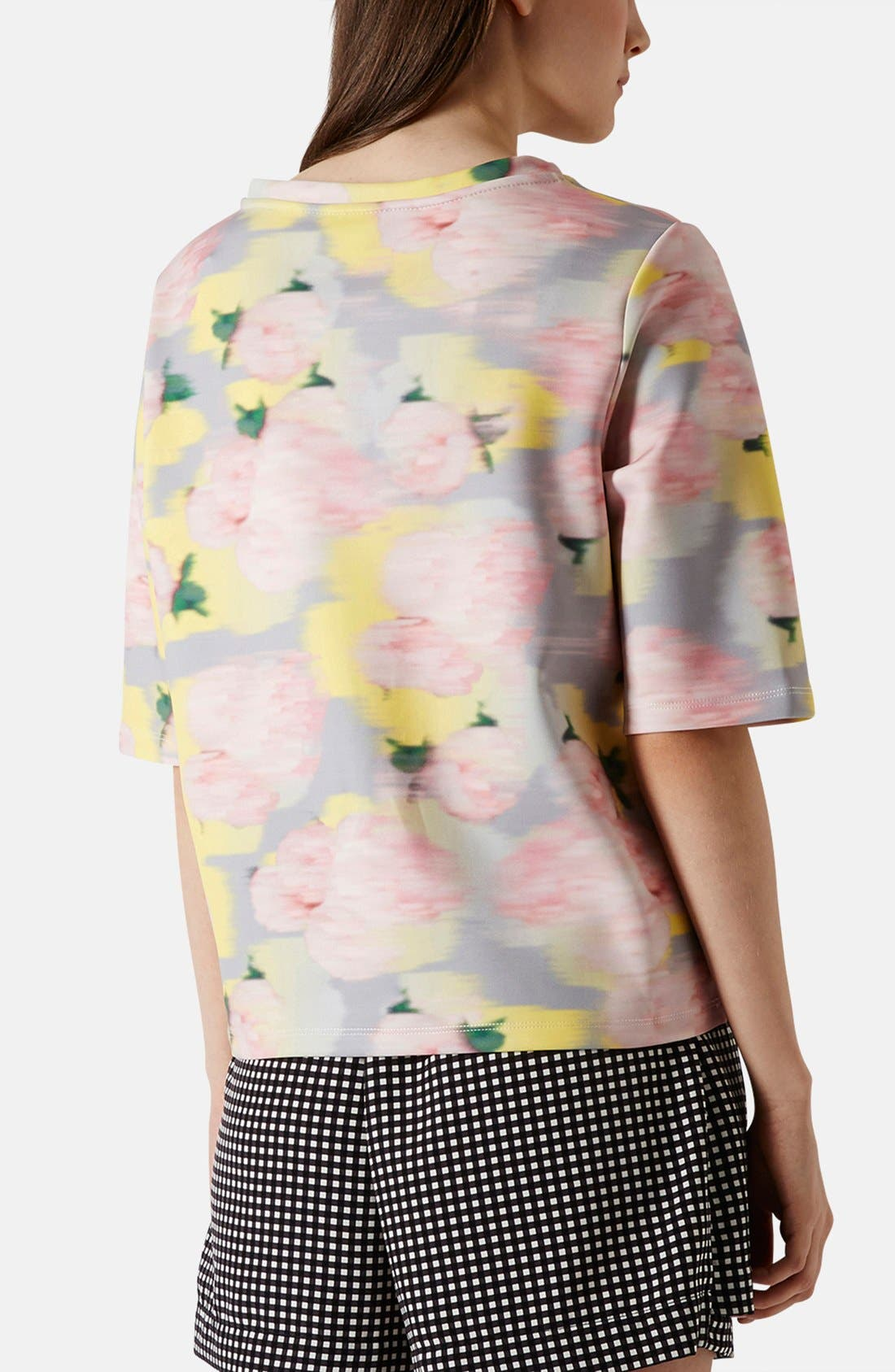 Alternate Image 2  - Topshop 'Blurred Floral' Print Scuba Top